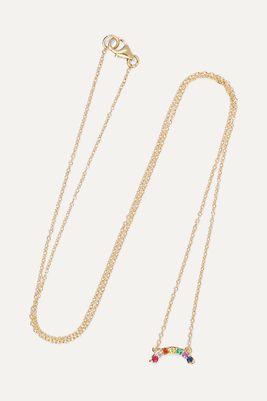 ANDREA FOHRMAN 14-karat gold multi-stone necklace