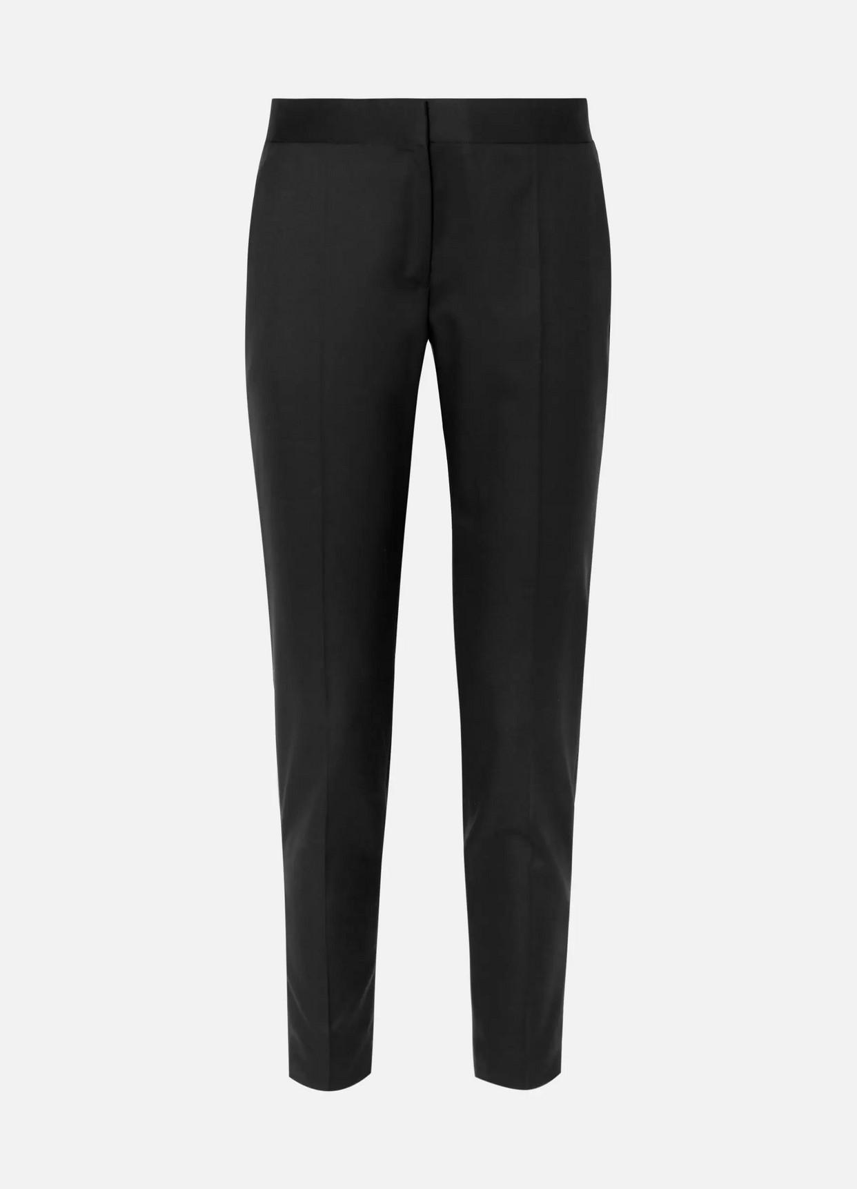 STELLA MCCARTNEY - Vivian Zip-detailed Wool-twill Straight-leg Pants - Black - IT36