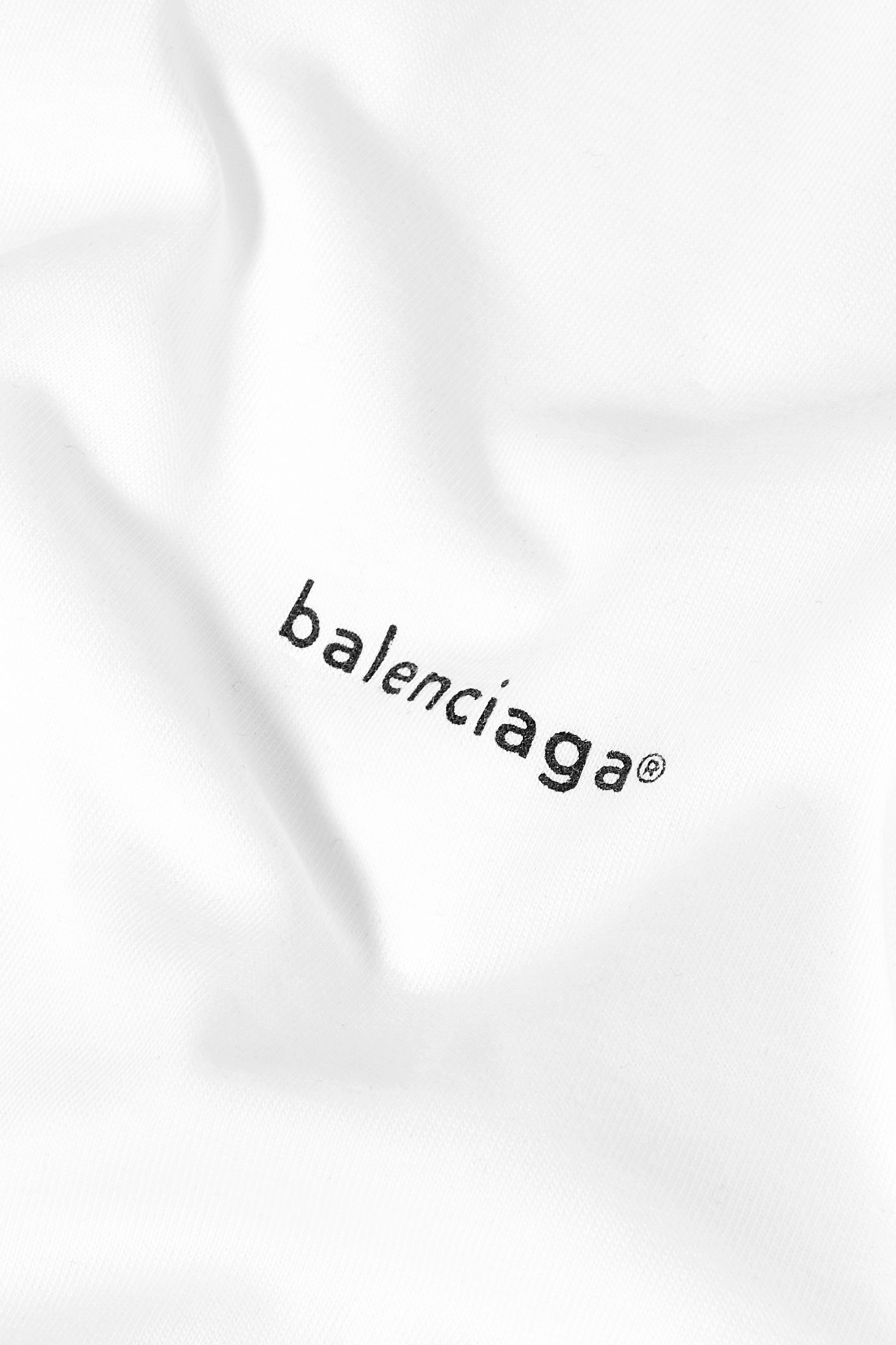 BALENCIAGA Oversized printed cotton-jersey T-shirt
