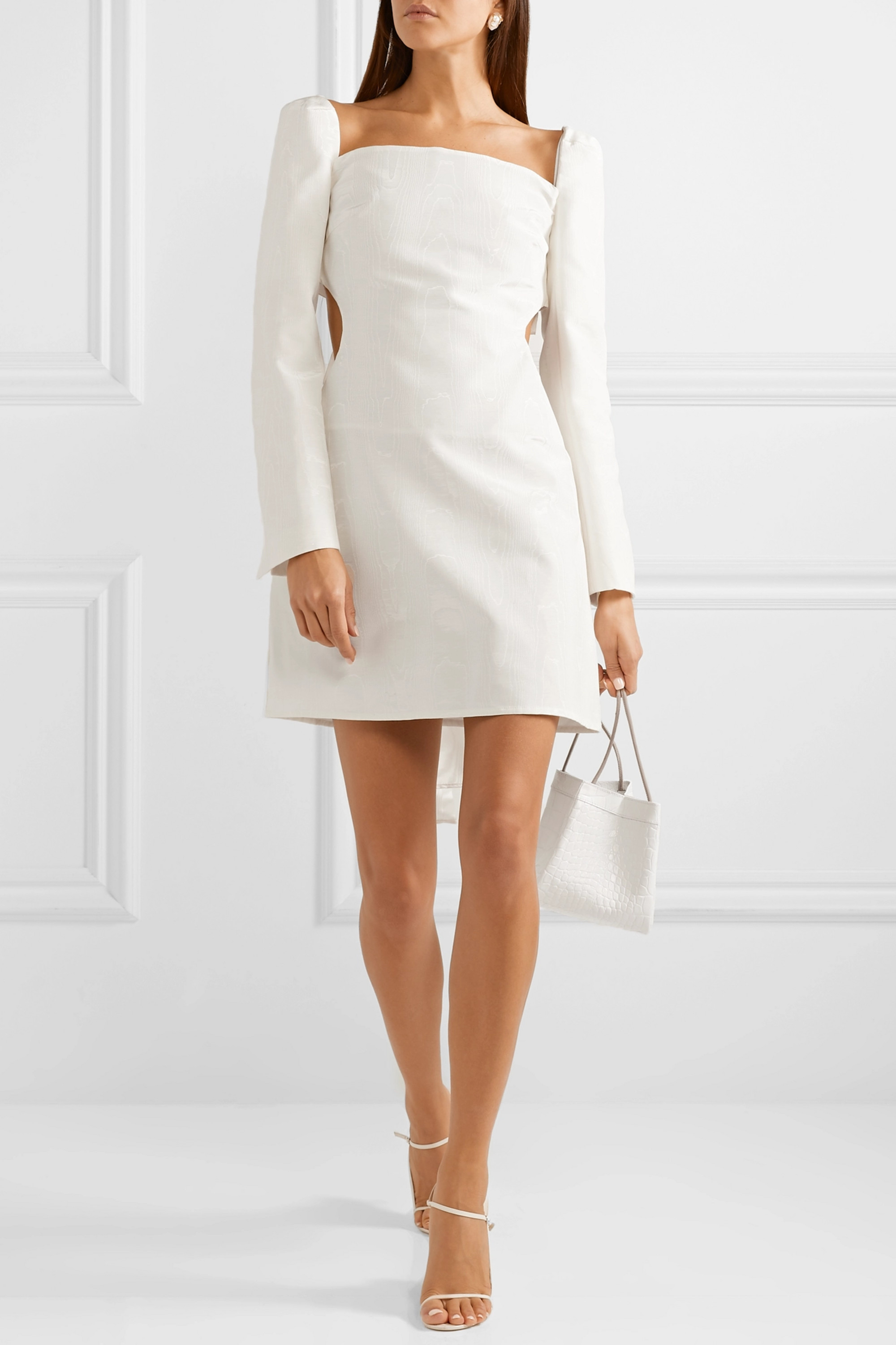 ELLERY Pallen cotton-blend moire mini dress