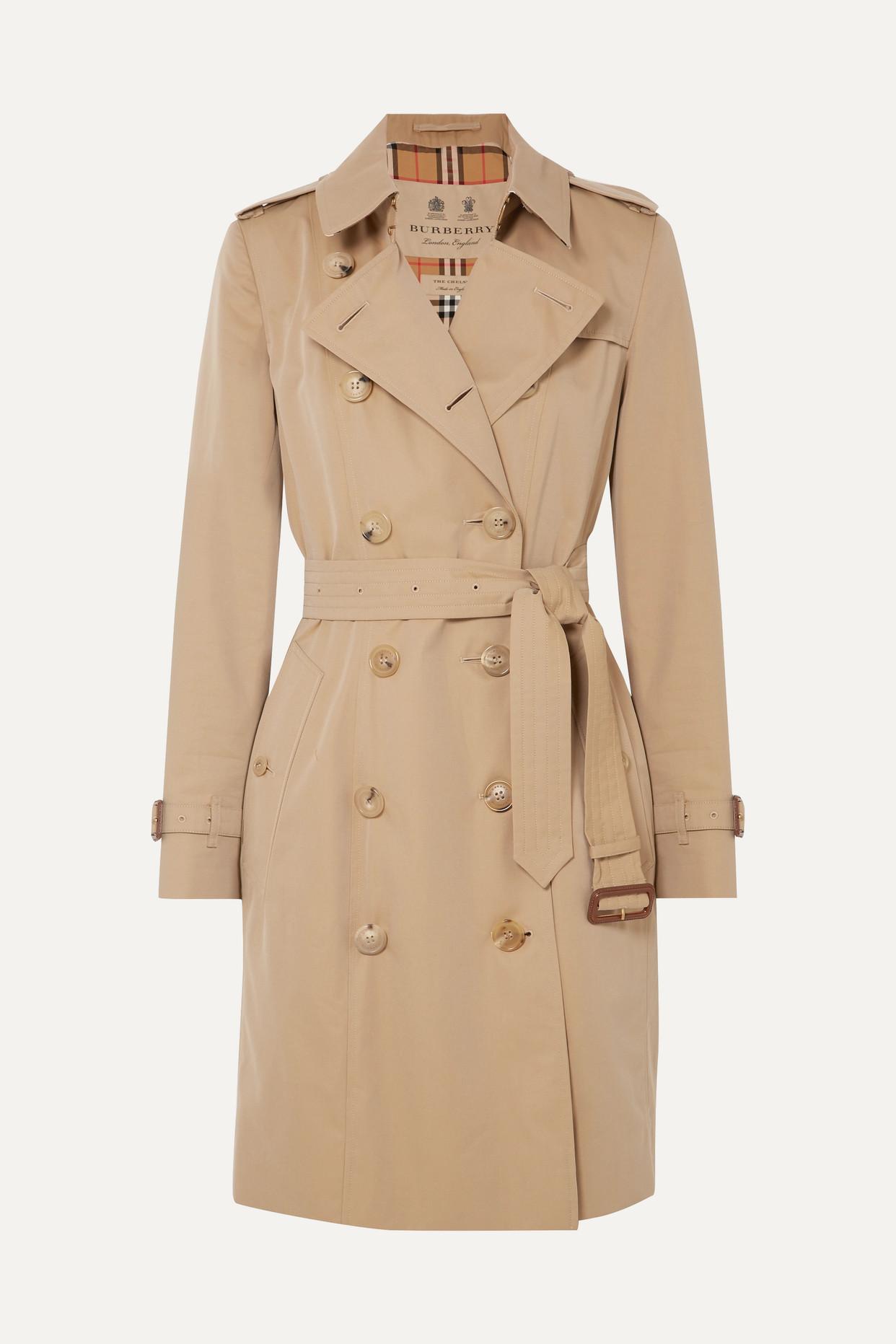 BURBERRY - The Chelsea Cotton-gabardine Trench Coat - Neutrals - UK18