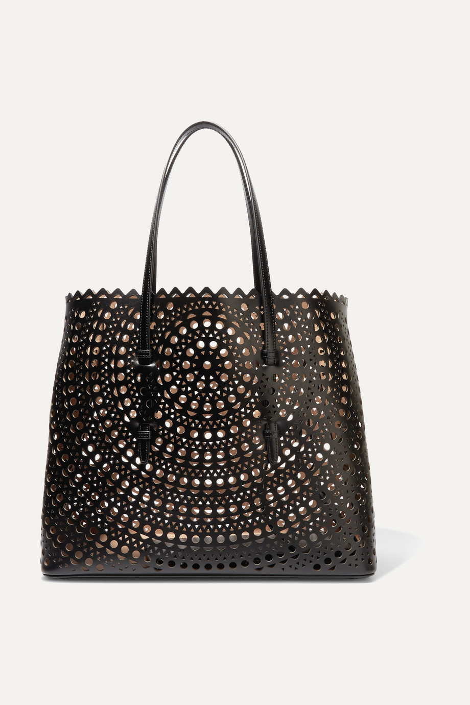 Alaïa Mina laser-cut leather tote