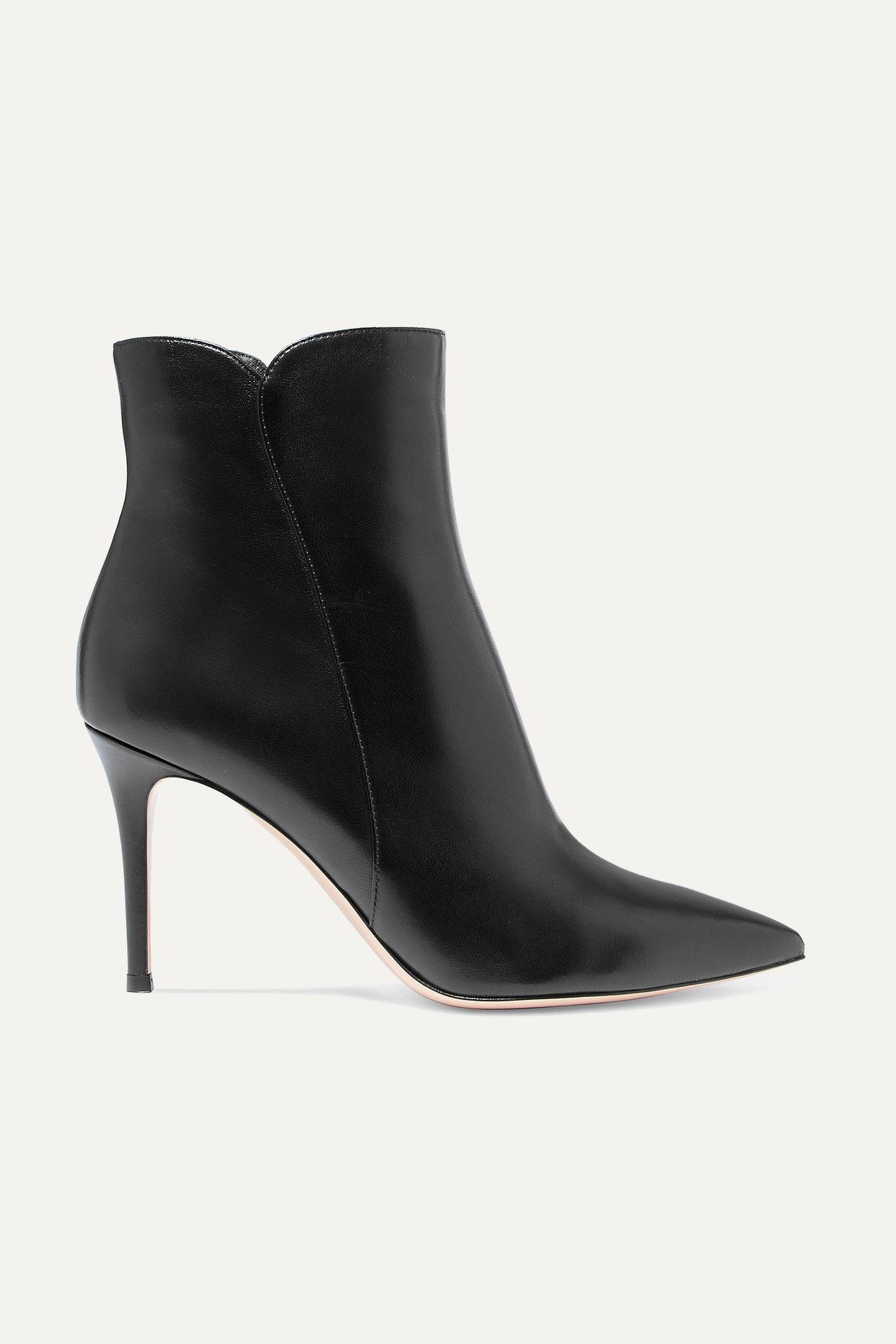 GIANVITO ROSSI - Levy 85 Leather Ankle Boots - Black - IT39