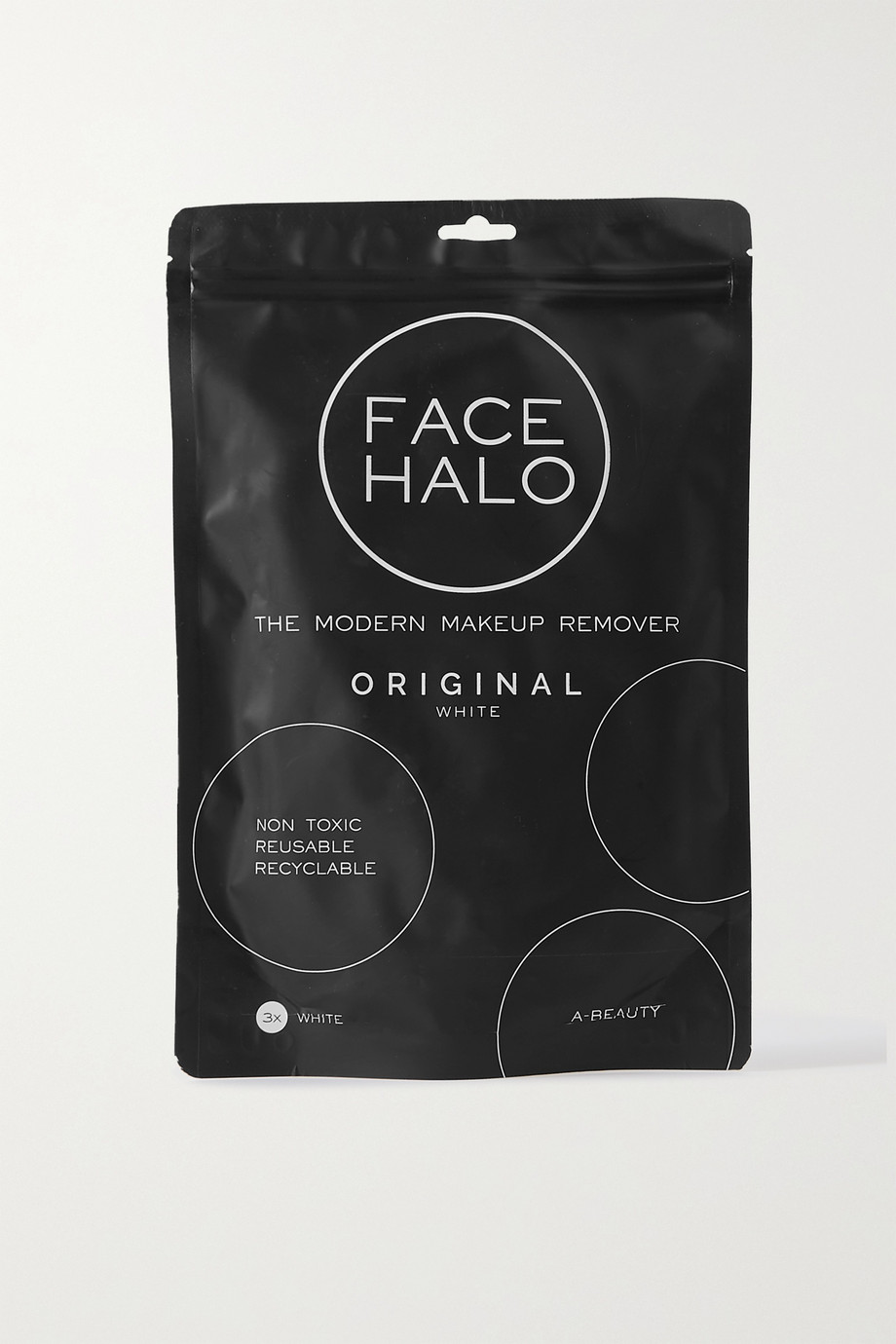 FACE HALO + NET SUSTAIN set of three makeup remover pads