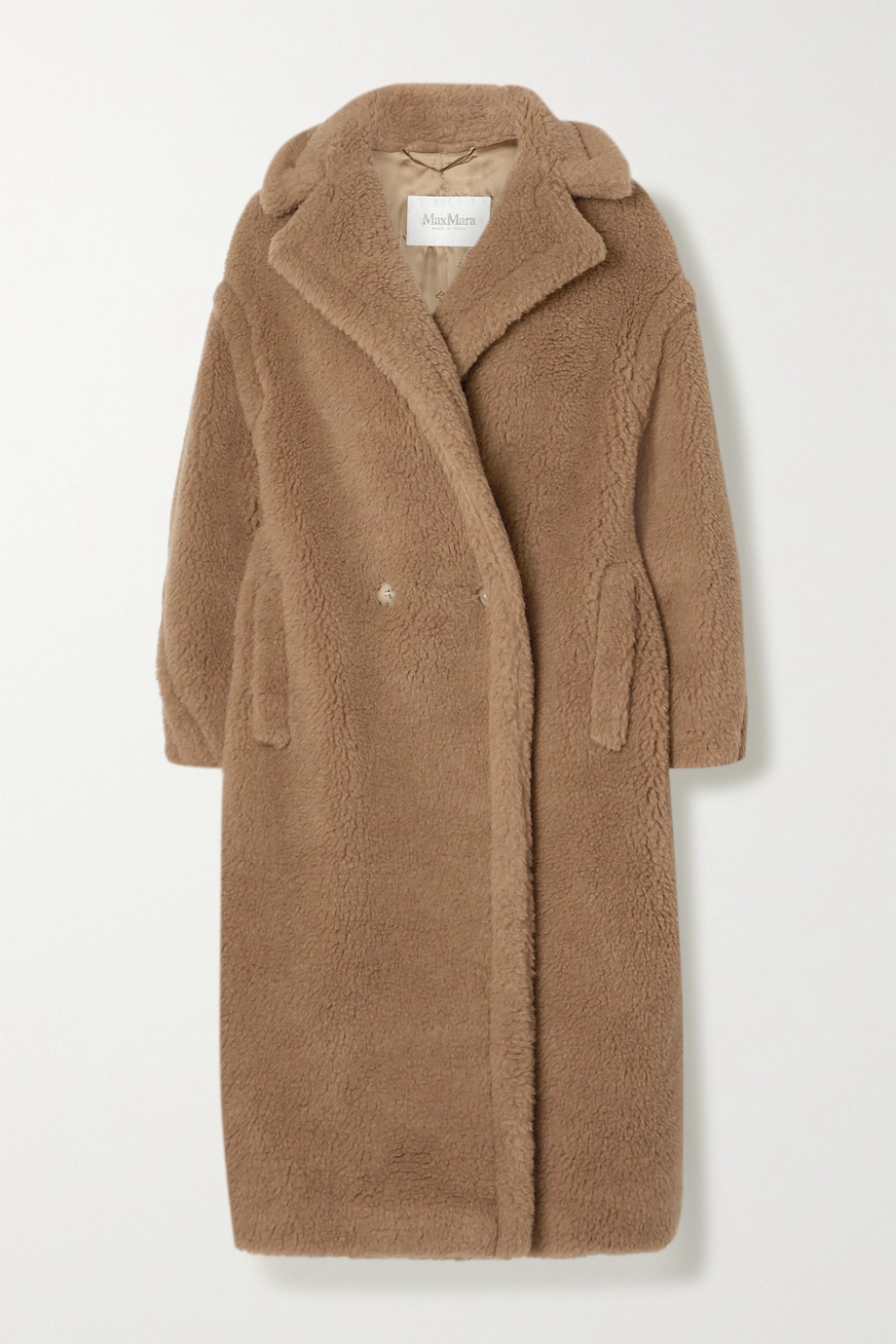 MAX MARA Teddy Bear Icon camel hair and silk-blend coat