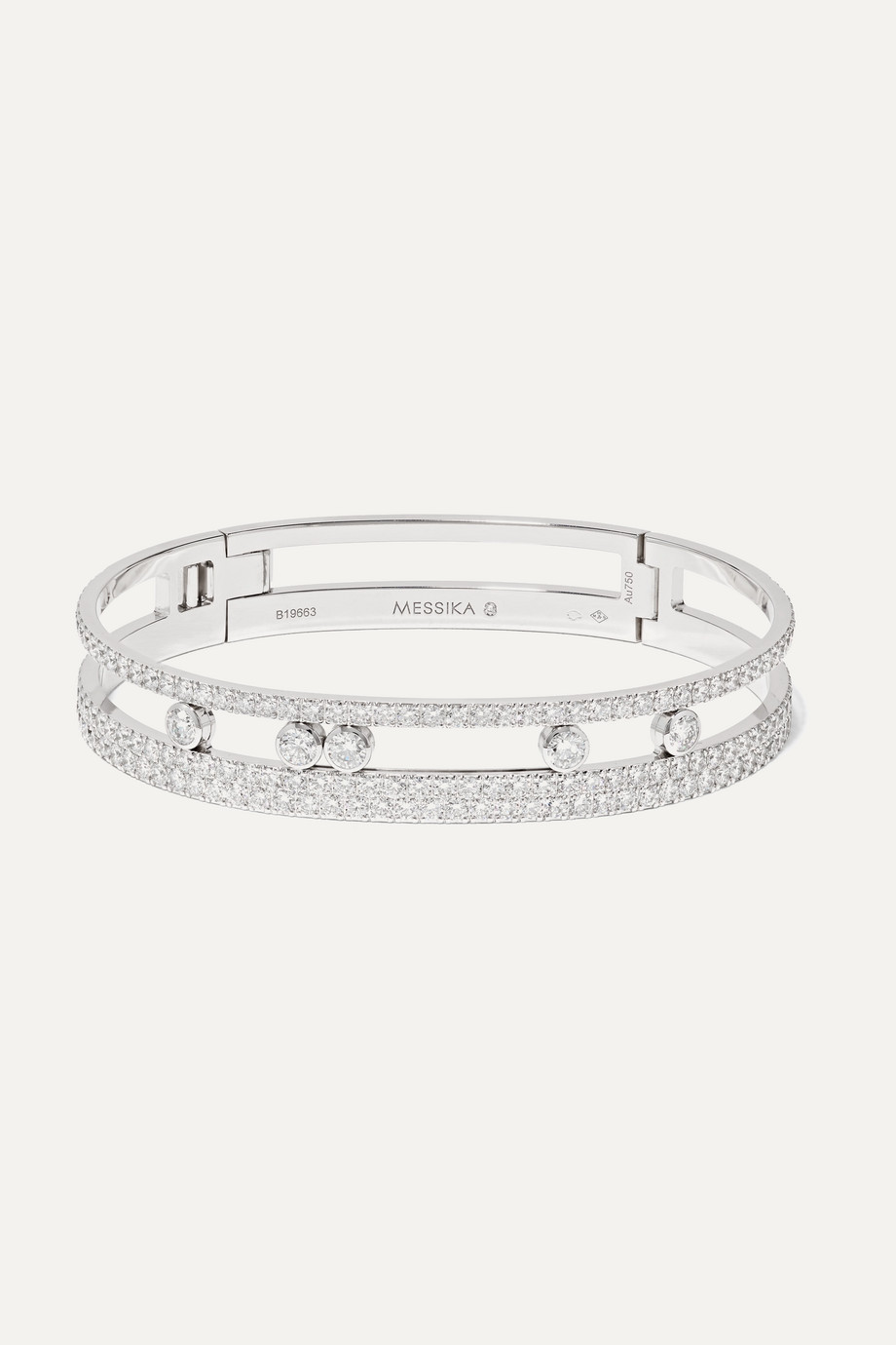 MESSIKA Move Romane 18-karat white gold diamond bangle