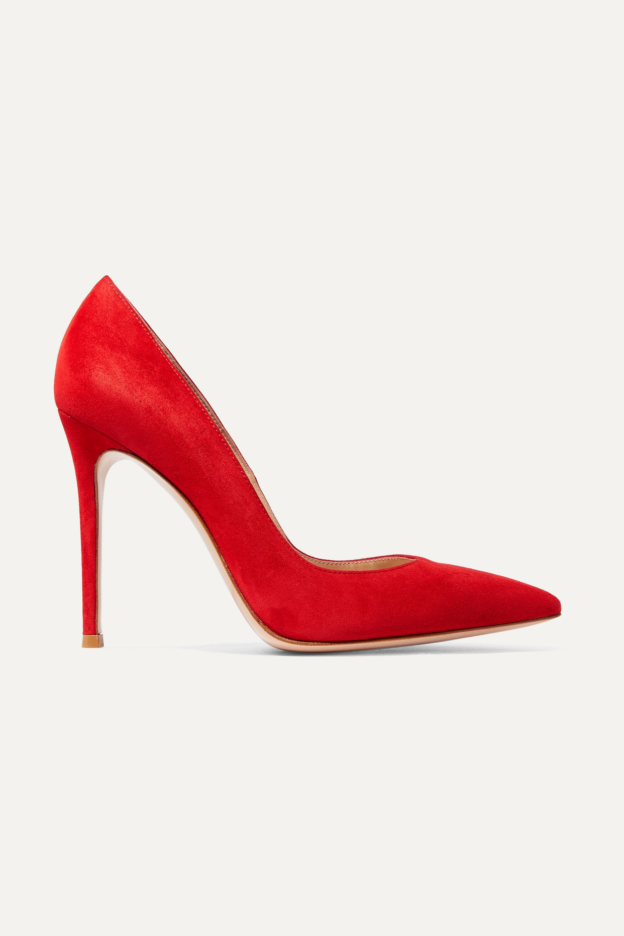 GIANVITO ROSSI - 105 Suede Pumps - Red - IT34