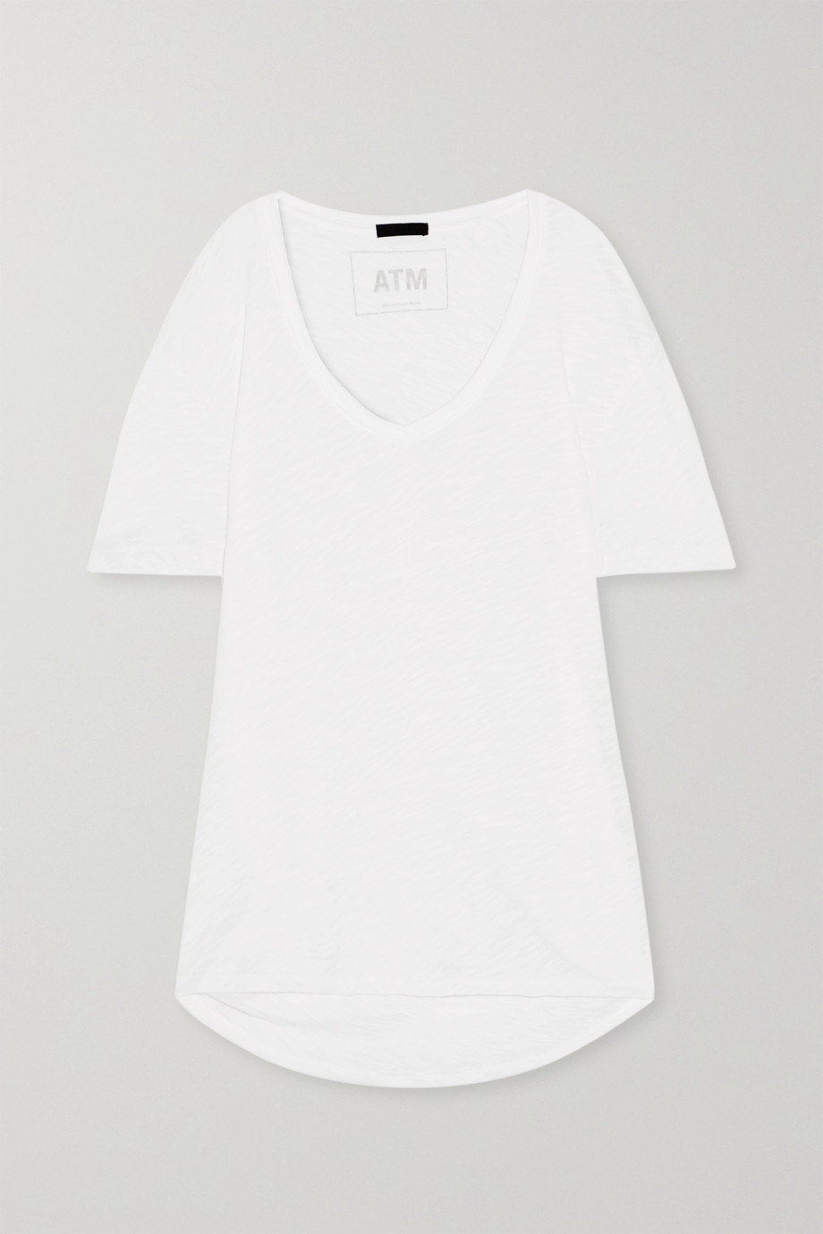 ATM ANTHONY THOMAS MELILLO Boyfriend slub cotton-jersey T-shirt