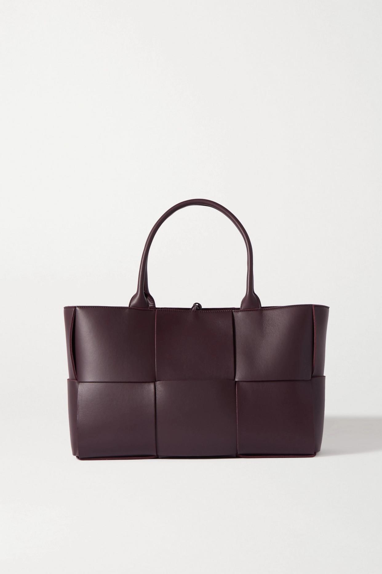 BOTTEGA VENETA - Arco Medium Intrecciato Leather Tote - Purple - one size