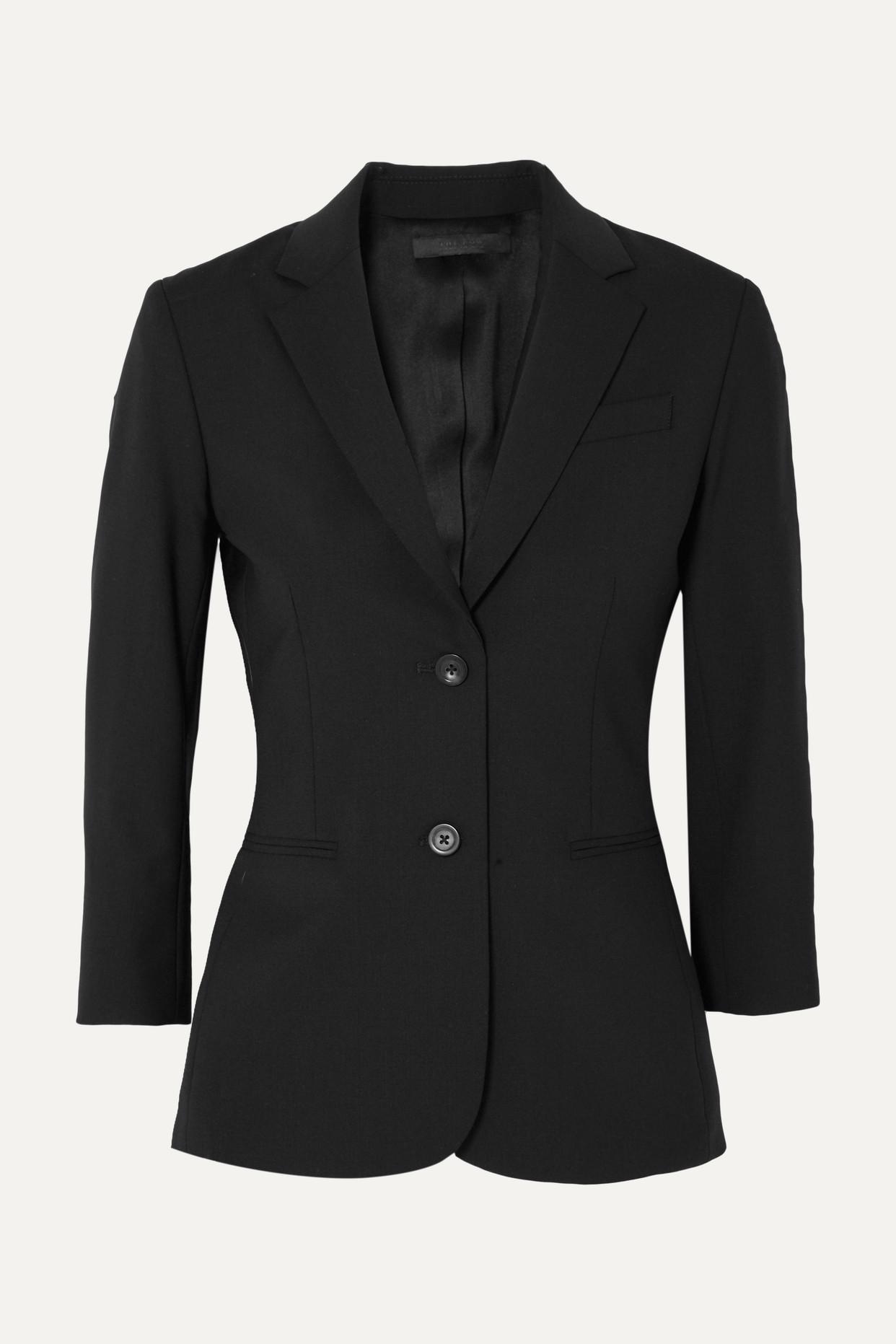 THE ROW - Schoolboy 弹力羊毛混纺绉纱西装式外套 - 黑色 - US8