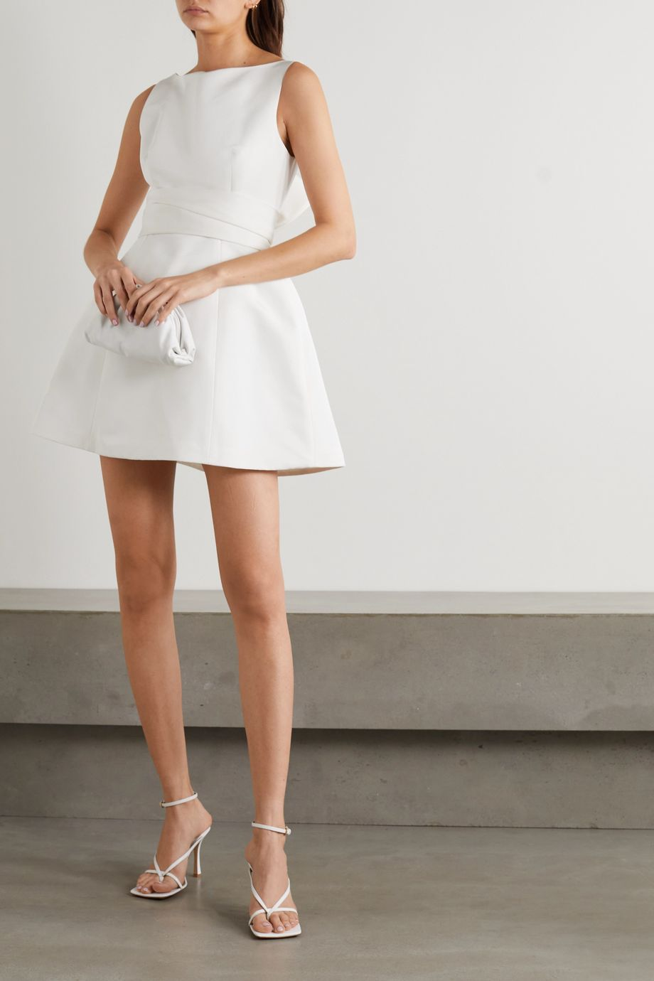 BRANDON MAXWELL Silk-faille mini dress