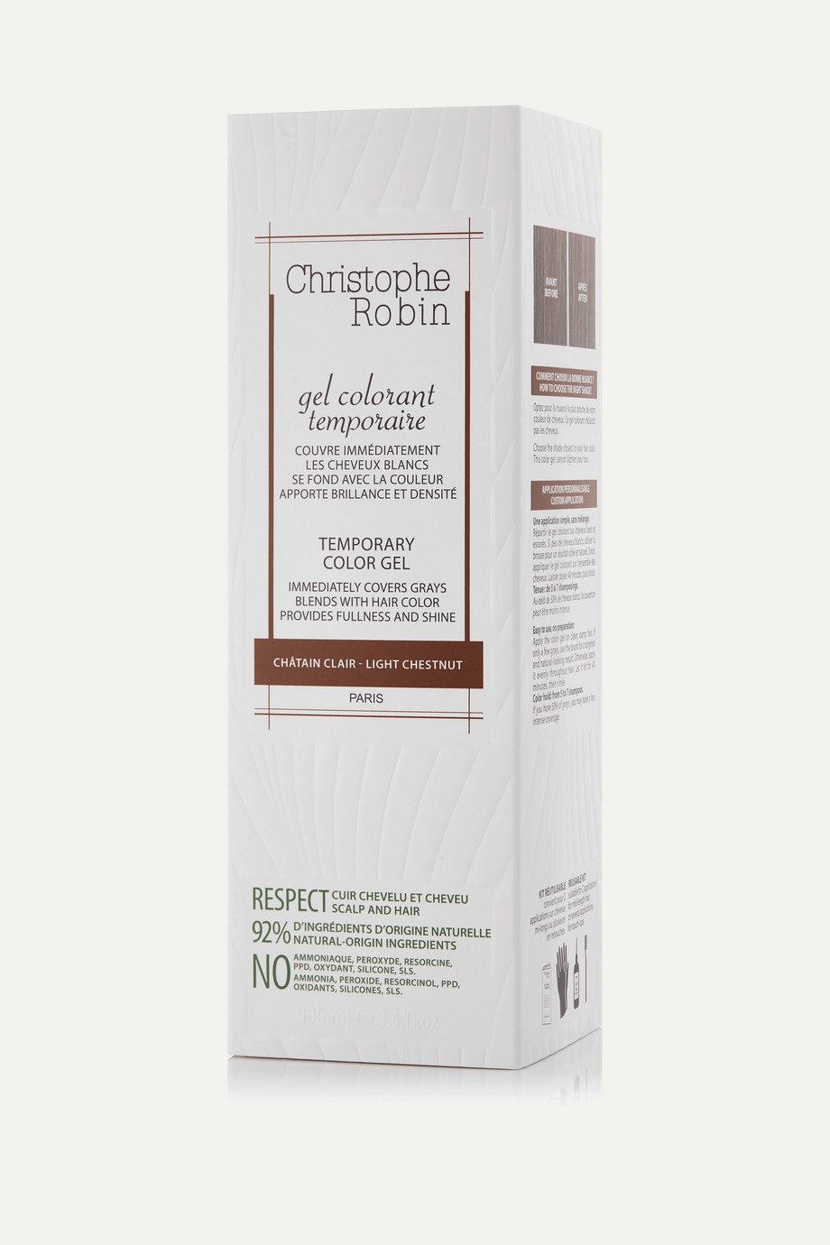 CHRISTOPHE ROBIN Temporary Color Gel Light Chestnut, 100ml