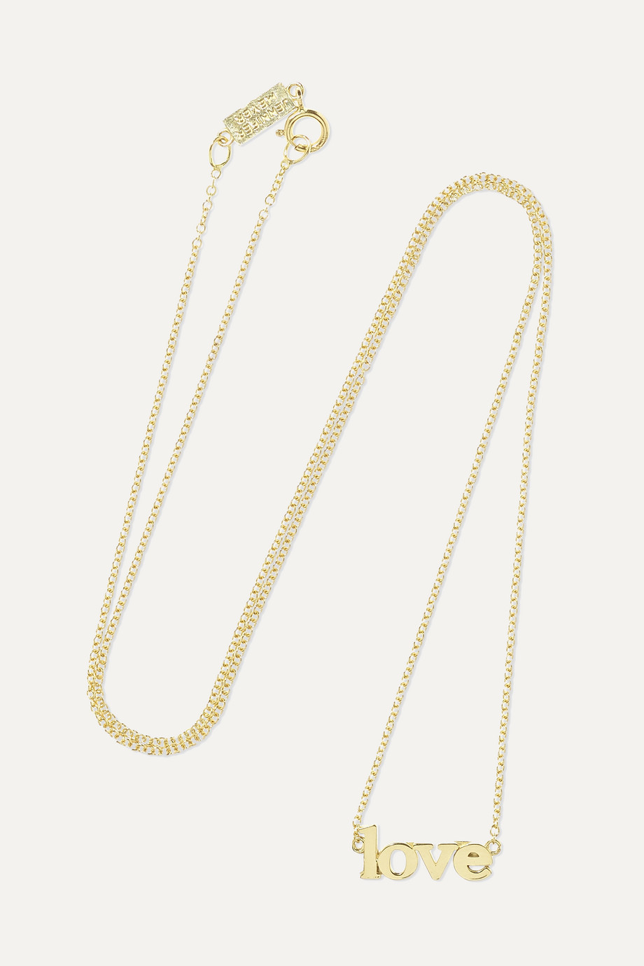 JENNIFER MEYER Love 18-karat gold necklace
