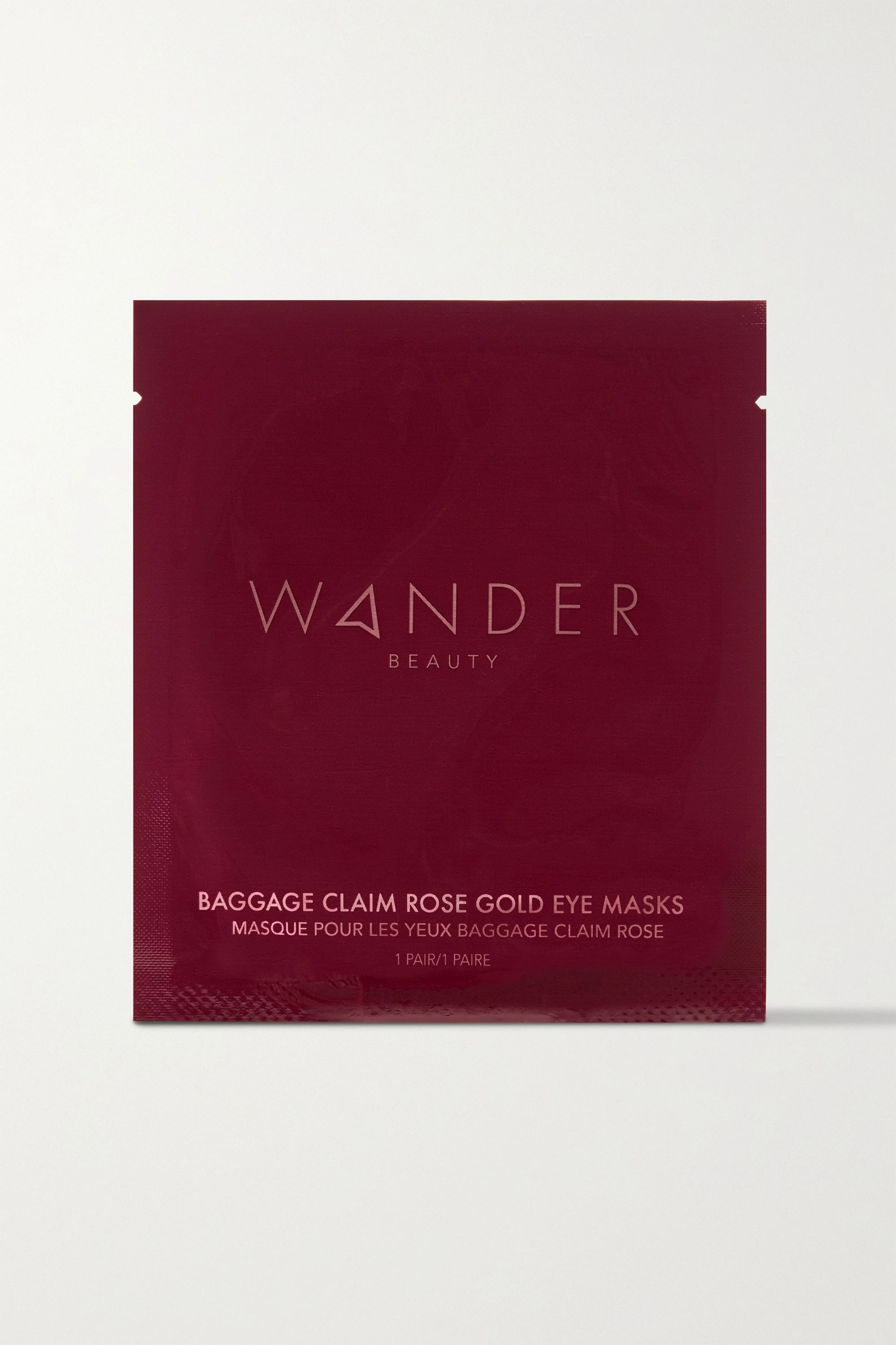 WANDER BEAUTY Baggage Claim Rose Gold Eye Masks x 6