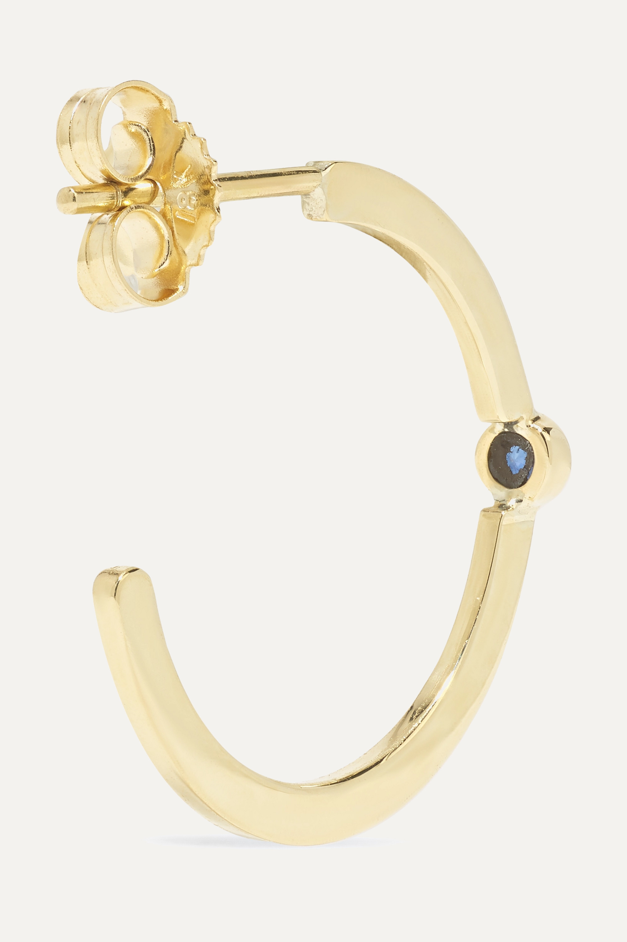 JENNIFER MEYER 18-karat gold sapphire hoop earrings