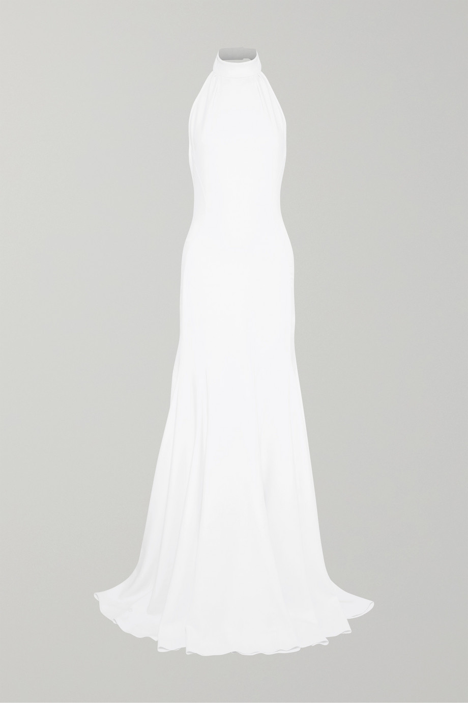 STELLA MCCARTNEY Stretch-crepe halterneck gown