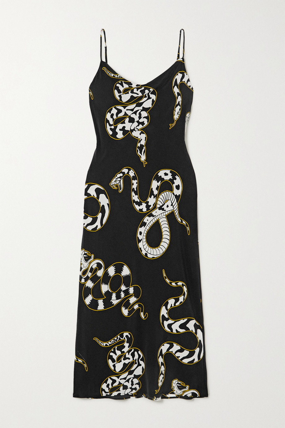 OLIVIA VON HALLE Bibi printed silk-blend crepe de chine maxi dress