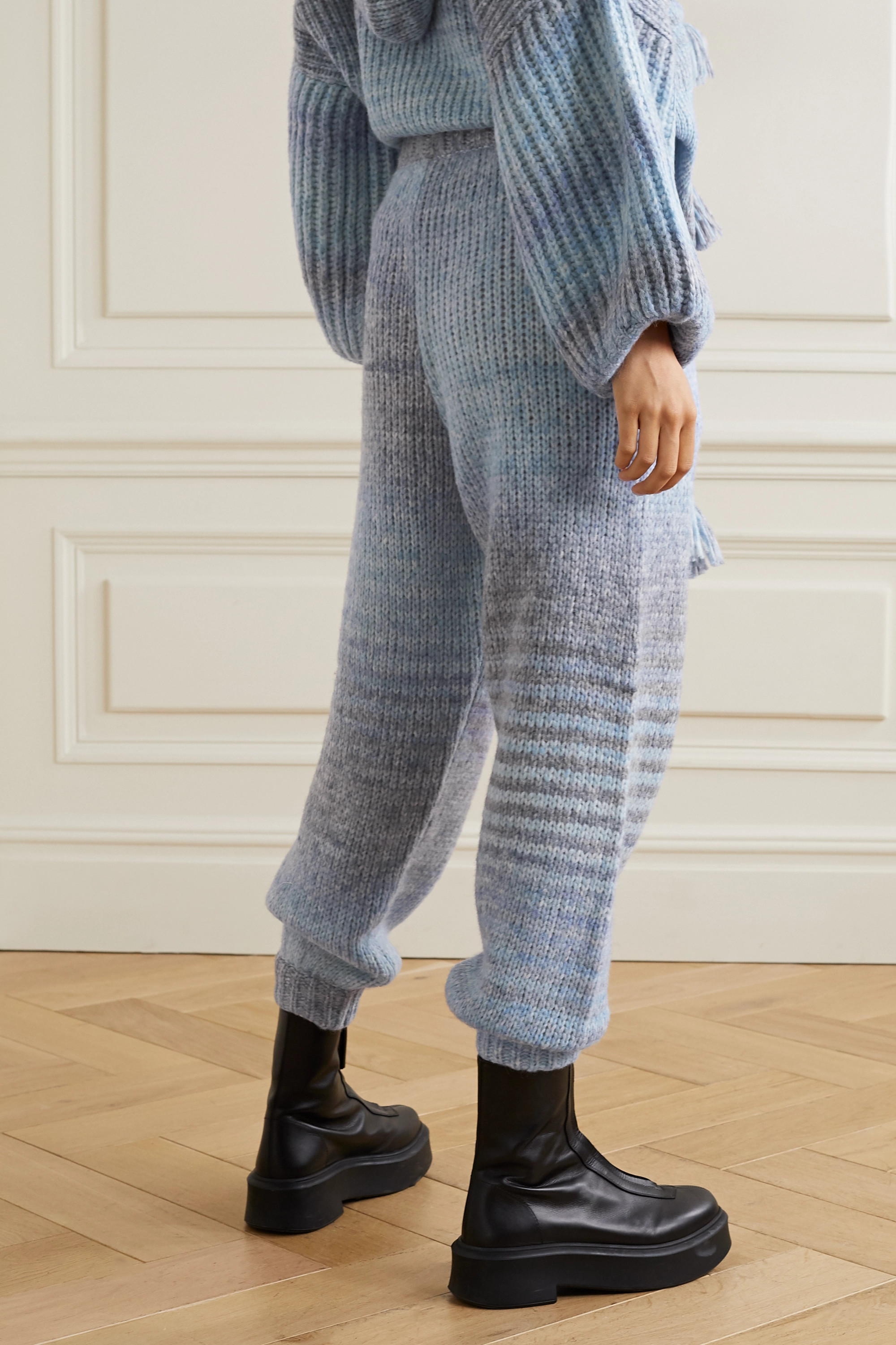 LOVESHACKFANCY Blossom knitted track pants