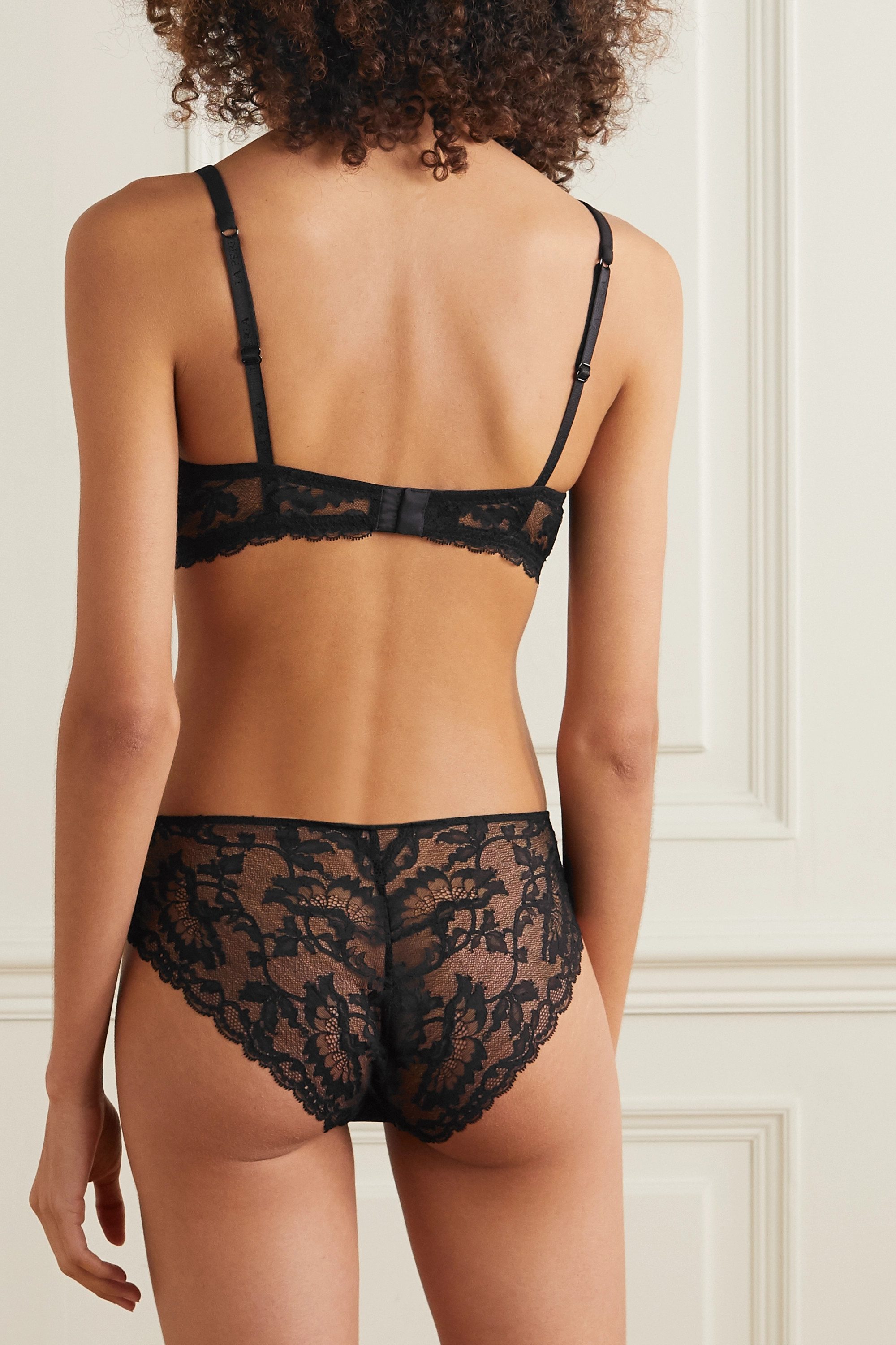 LA PERLA Good Vibrations stretch-lace and jersey briefs
