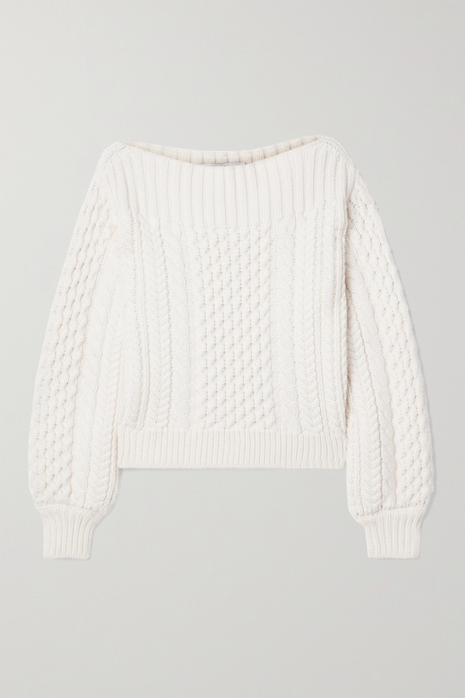 PROENZA SCHOULER WHITE LABEL Cable-knit wool-blend sweater