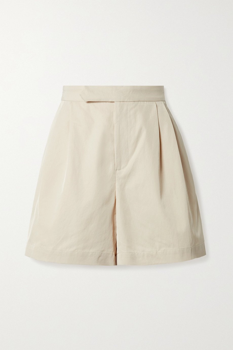 DEVEAUX Veronique pleated twill shorts