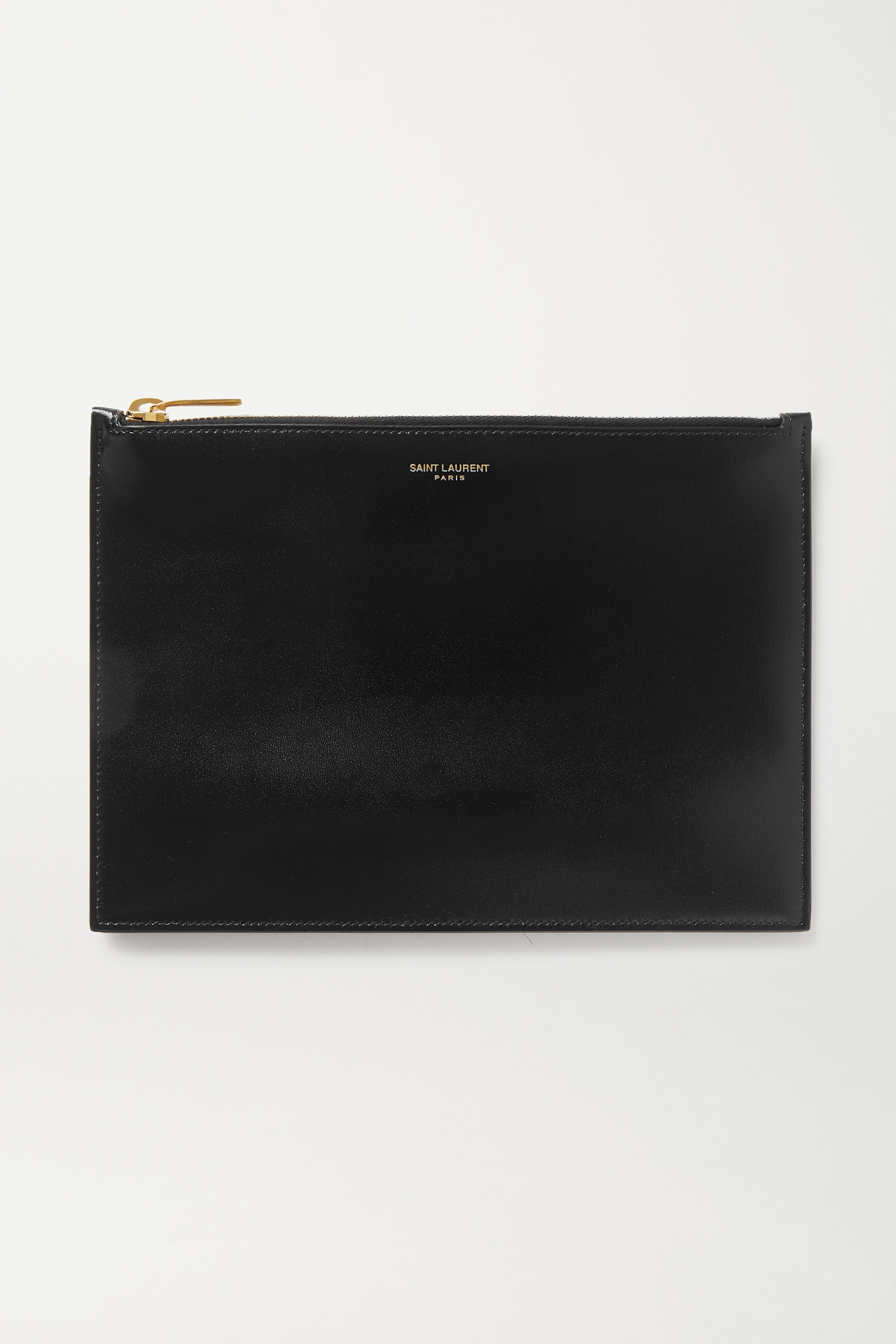 SAINT LAURENT Medium leather pouch