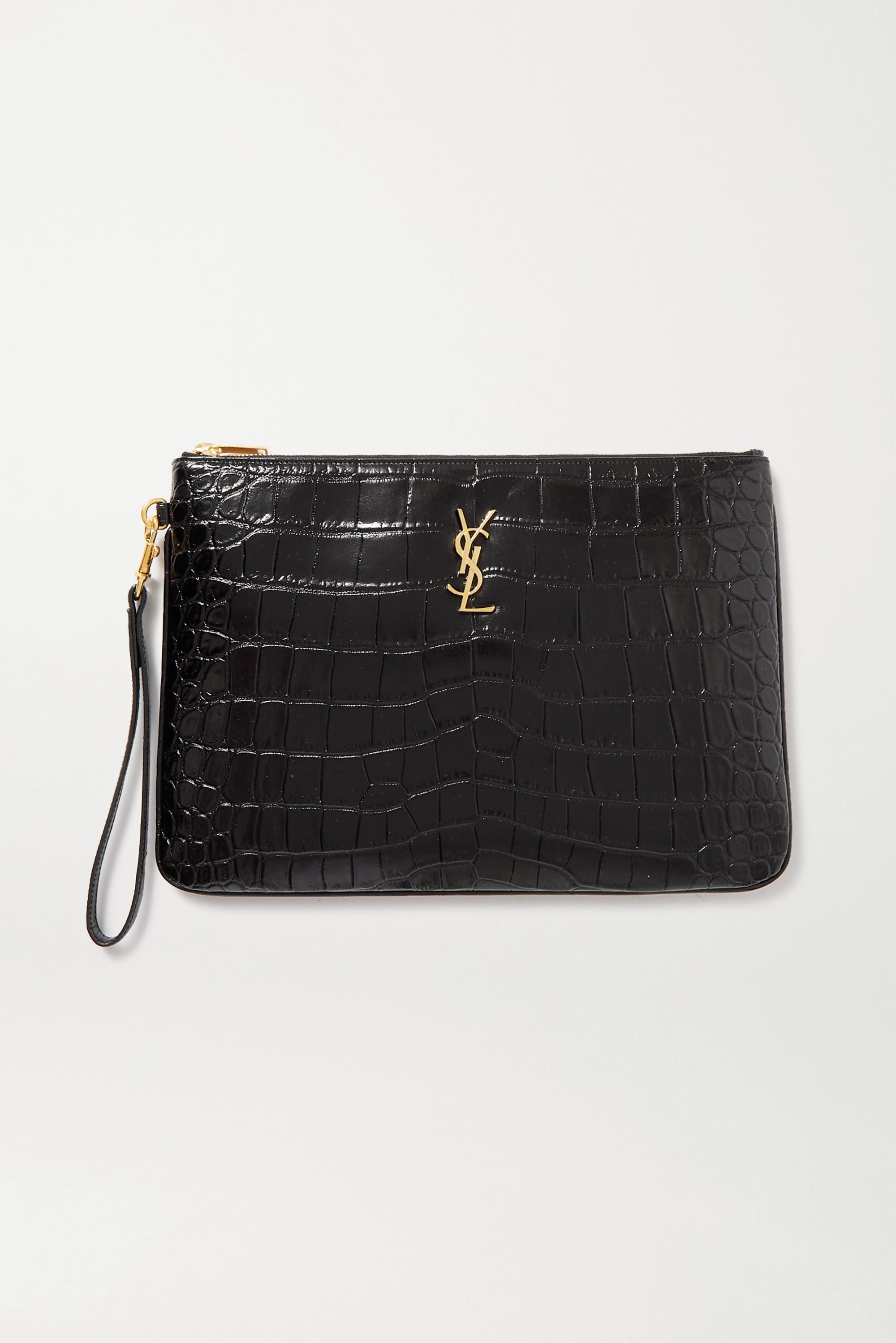 Crocodile Leather Pouch