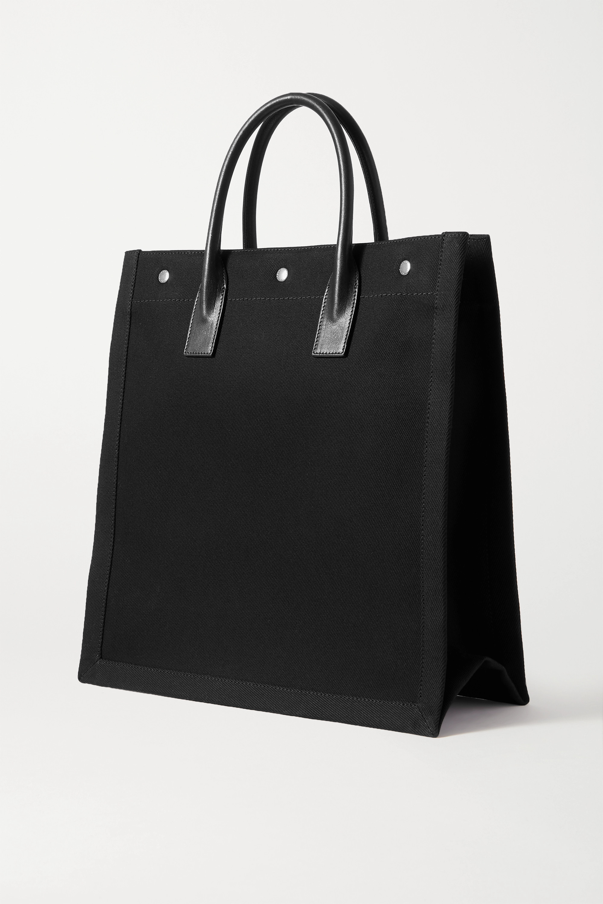 SAINT LAURENT Noe North South leather-trimmed printed canvas tote