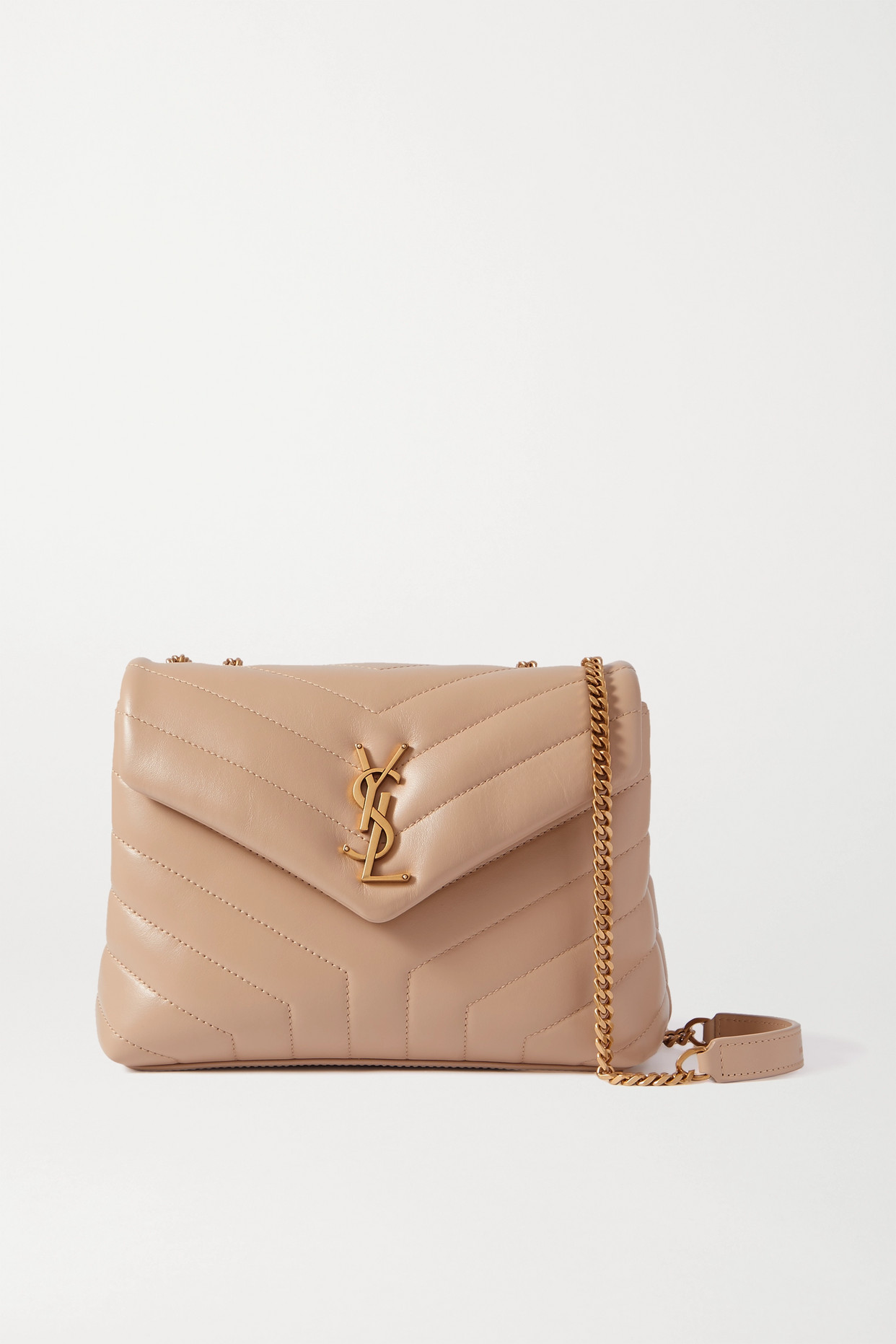 SAINT LAURENT - Loulou Small Quilted Leather Shoulder Bag - Neutrals - one size