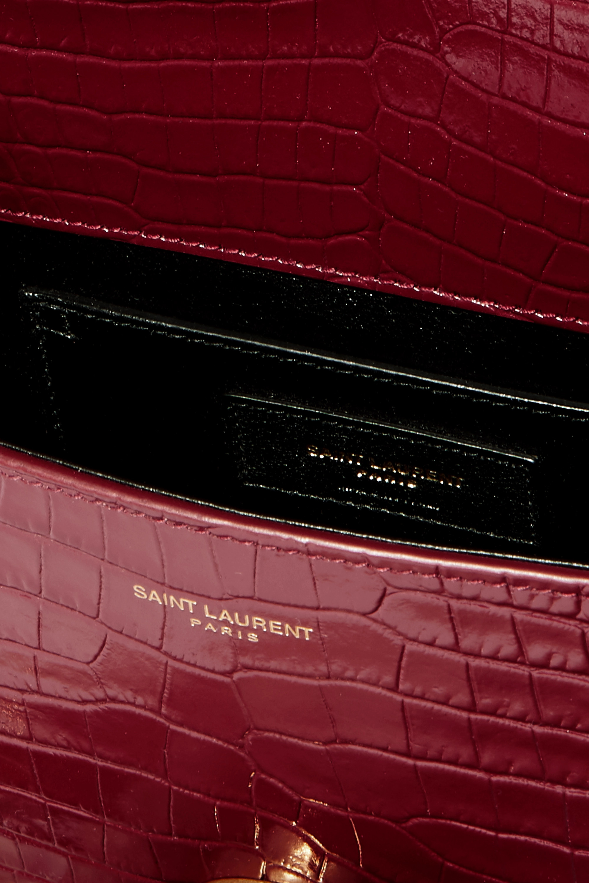 SAINT LAURENT Cassandra croc-effect leather tote