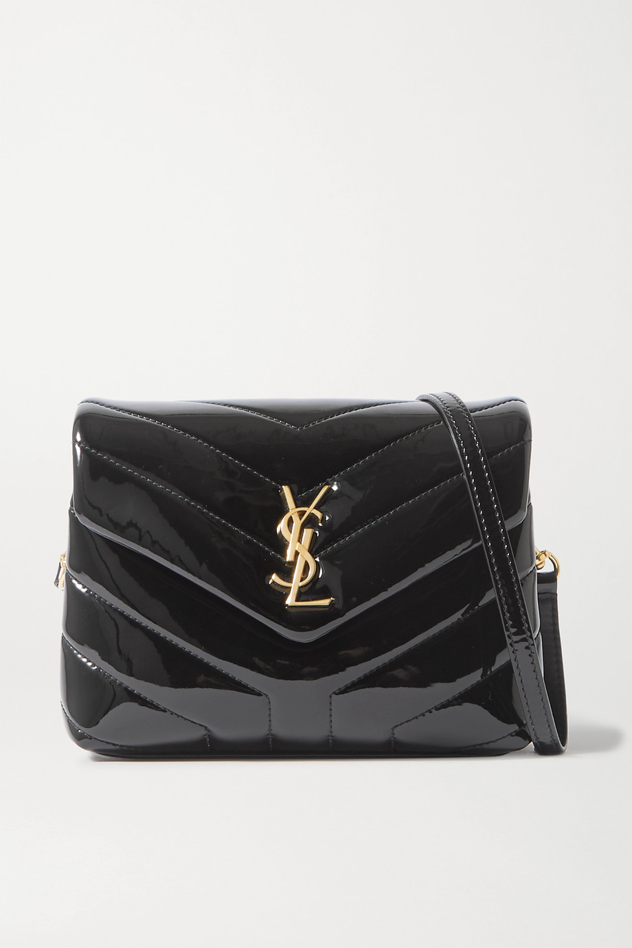 SAINT LAURENT Loulou Toy mini quilted patent-leather shoulder bag