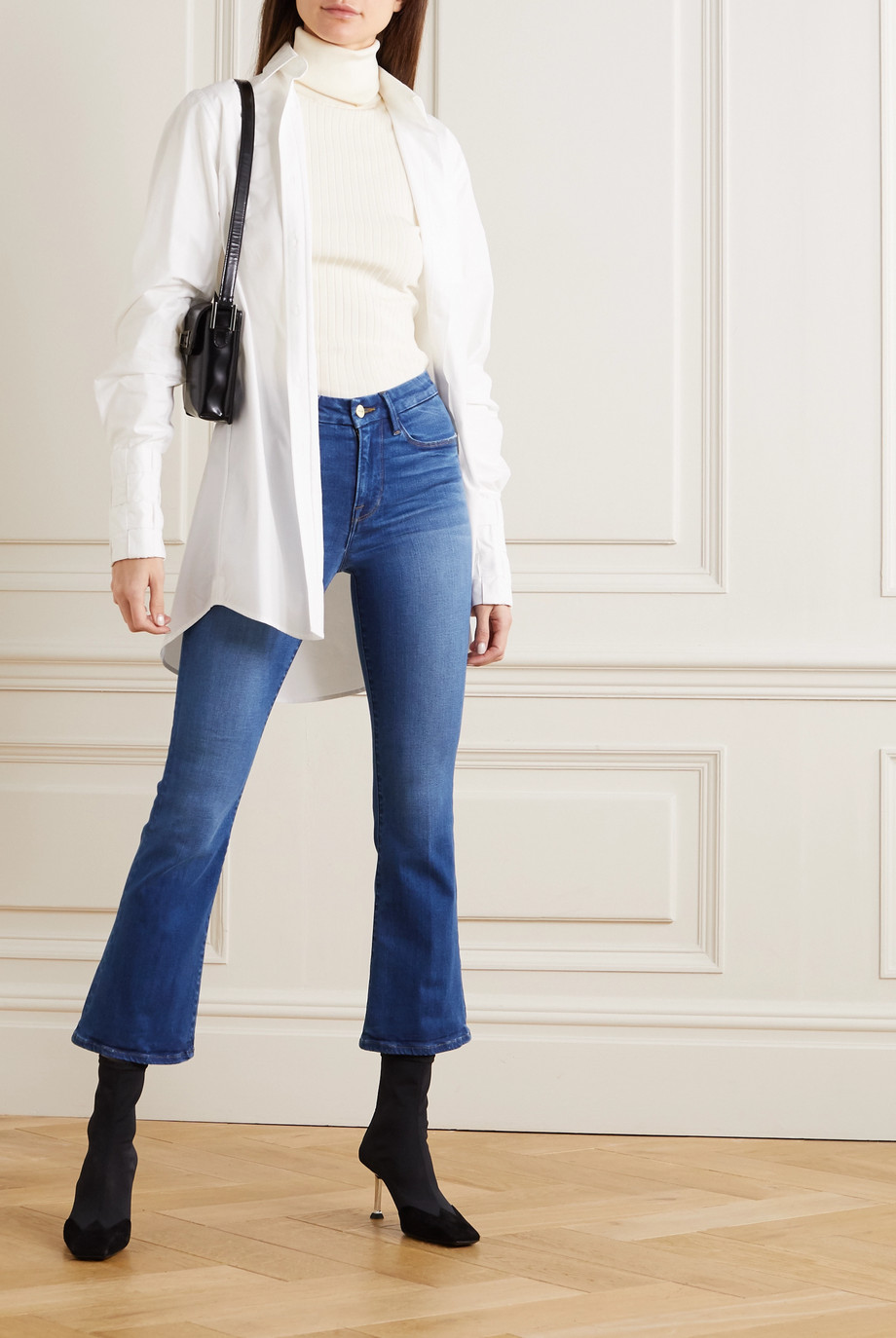 FRAME Le Crop Mini Boot jeans