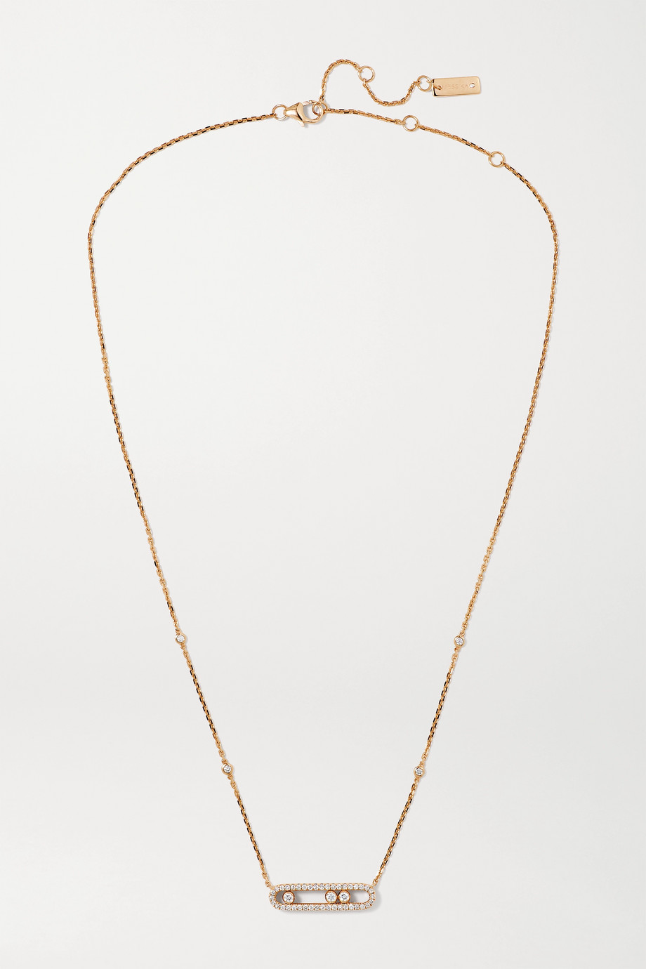 MESSIKA Baby Move 18-karat rose gold diamond necklace