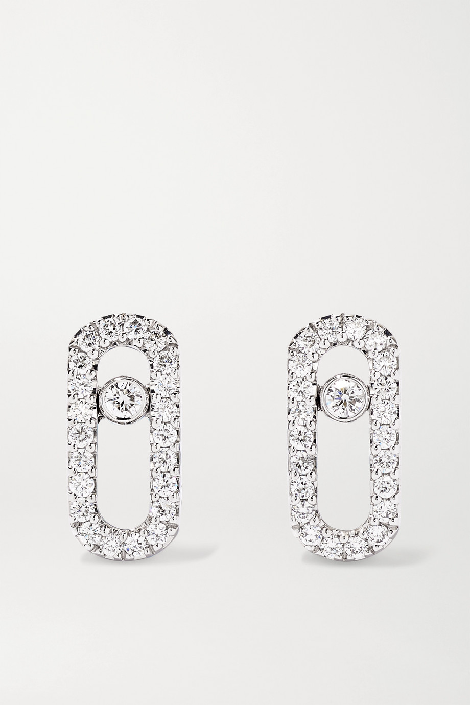 MESSIKA Move Uno 18-karat white gold diamond earrings