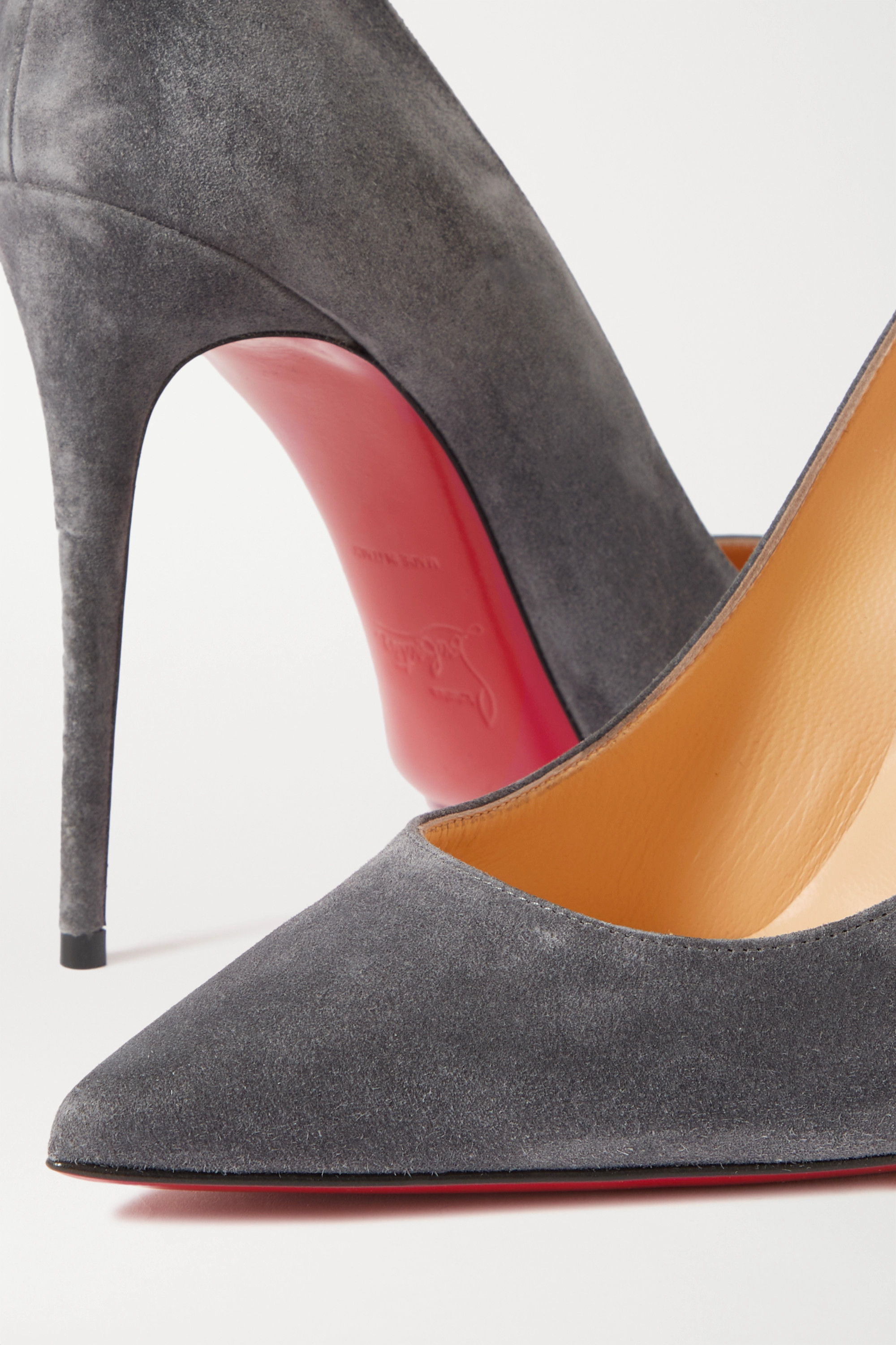 CHRISTIAN LOUBOUTIN Kate 100 suede pumps