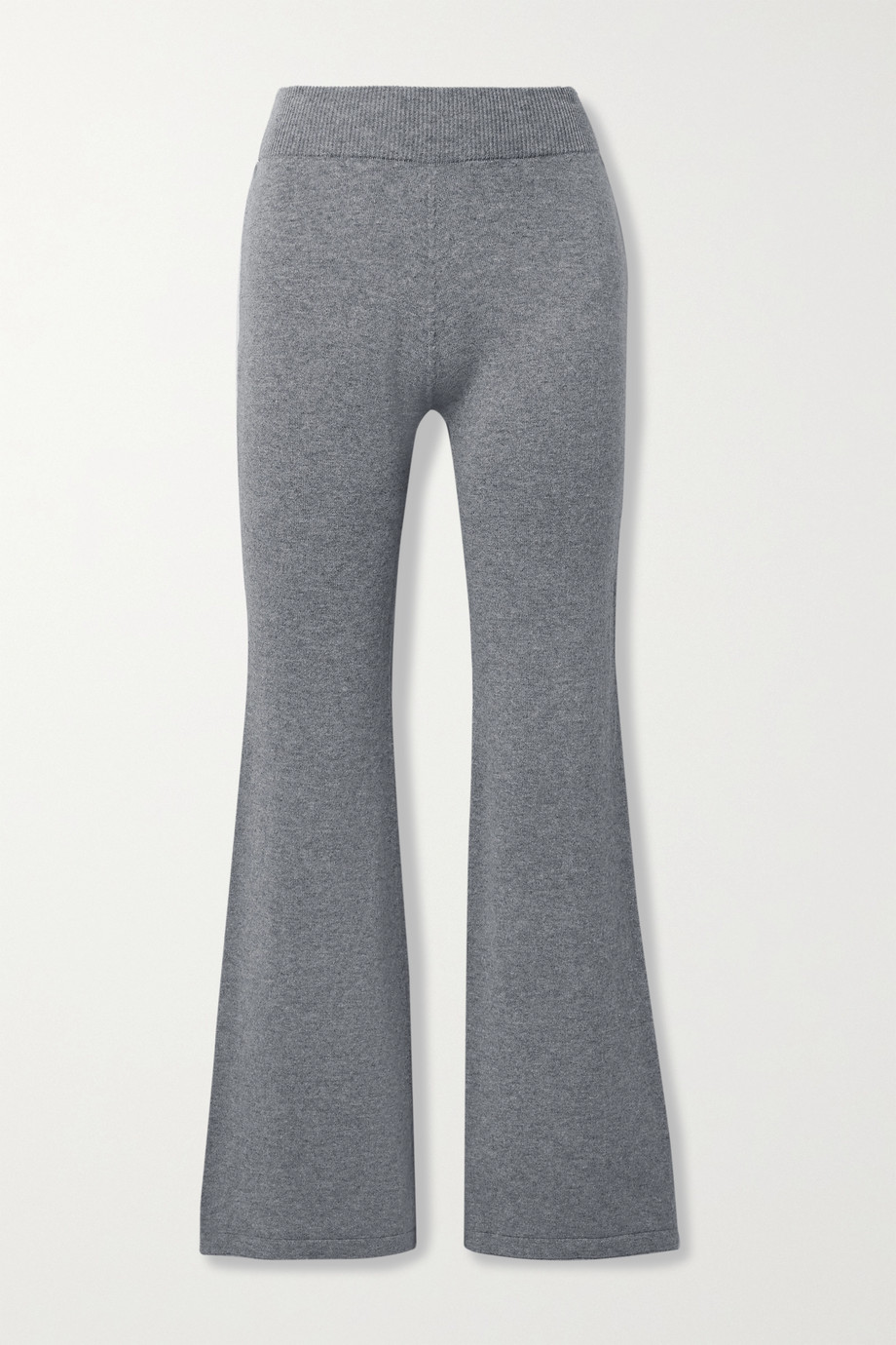 MR MITTENS Mélange wool and cashmere-blend flared pants