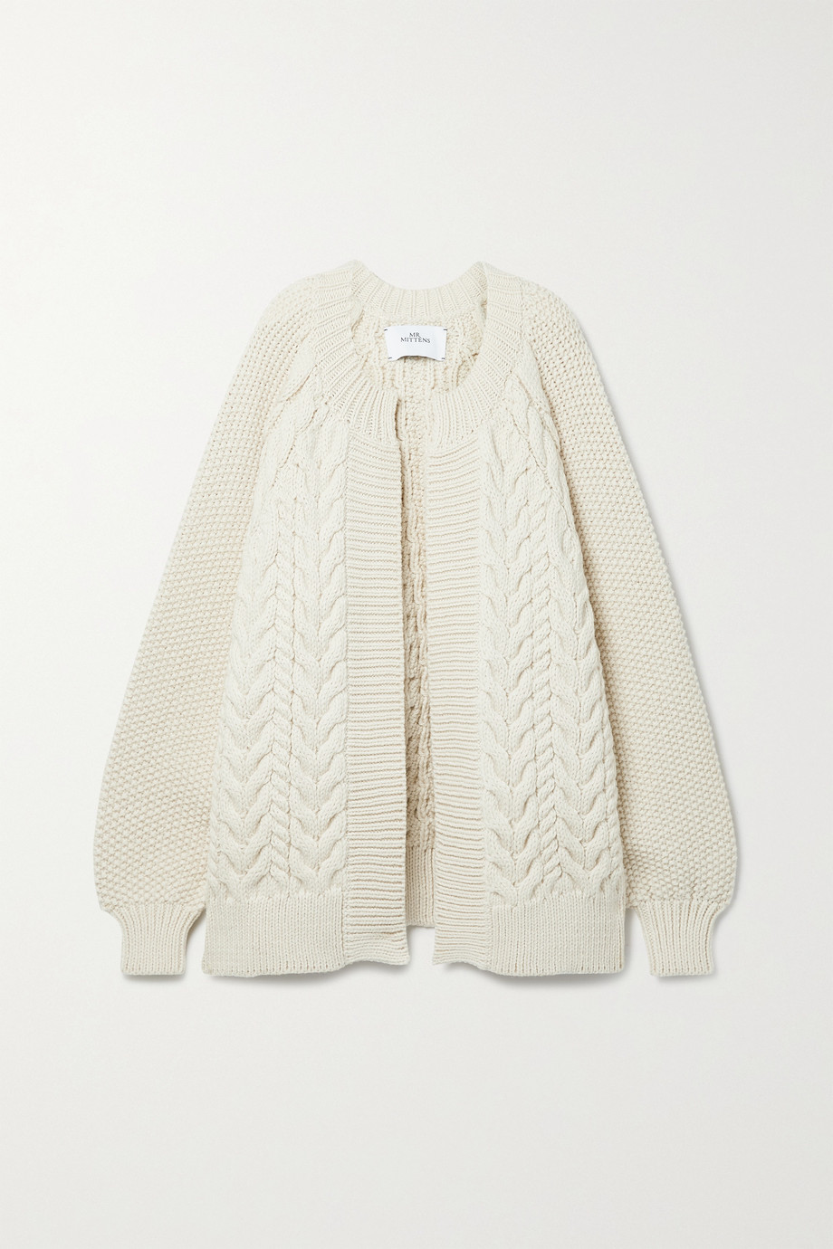 MR MITTENS Cable-knit wool cardigan