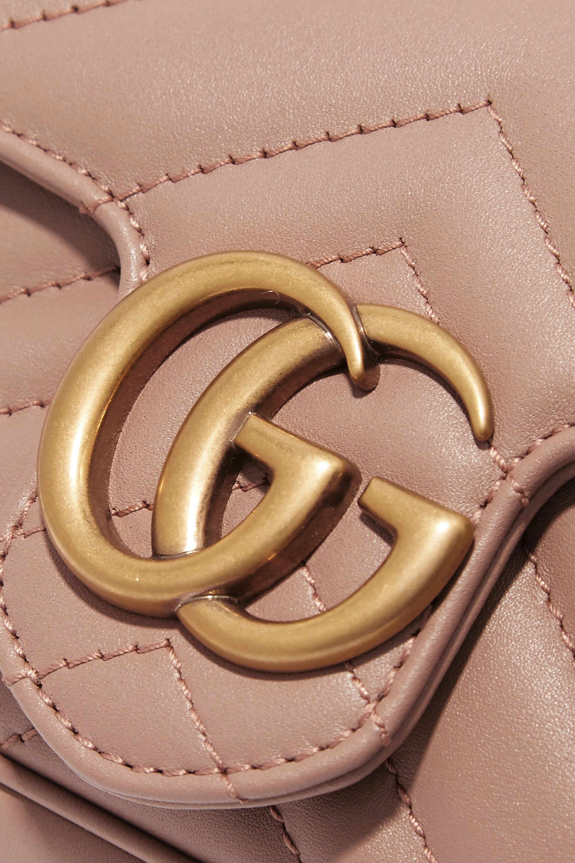 GUCCI GG Marmont super mini quilted leather shoulder bag