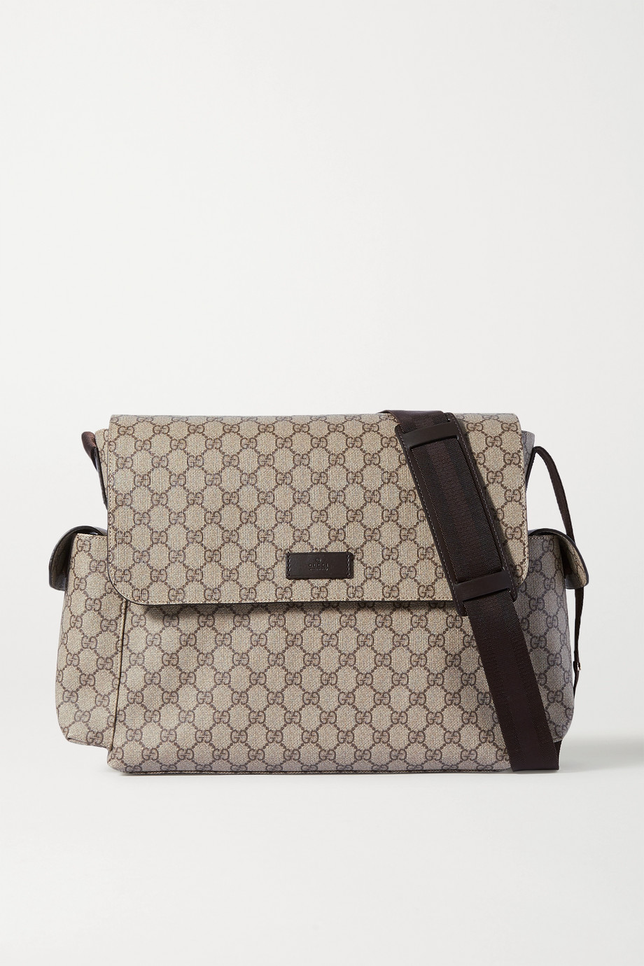GUCCI Ophidia printed coated-canvas diaper bag
