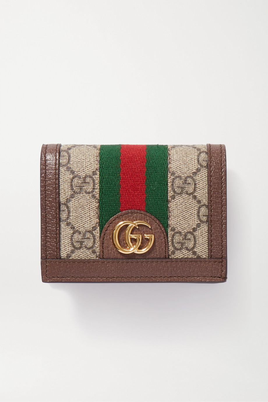 GUCCI Ophidia textured-leather printed coated-canvas wallet