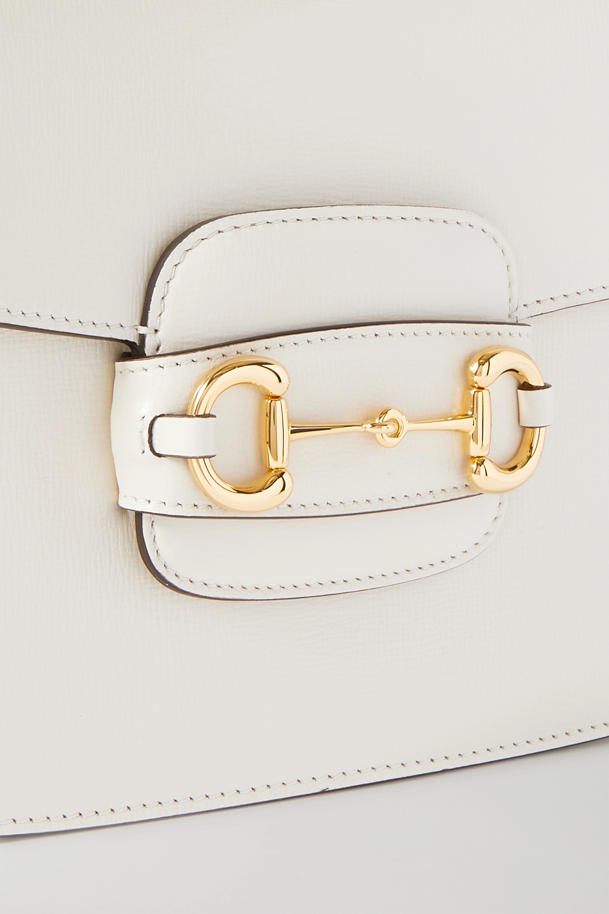 GUCCI 1955 horsebit-detailed textured-leather shoulder bag