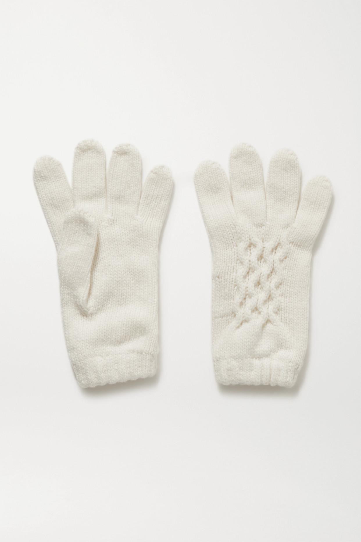 JOHNSTONS OF ELGIN - 【net Sustain】羊绒手套 - 象牙色 - One size