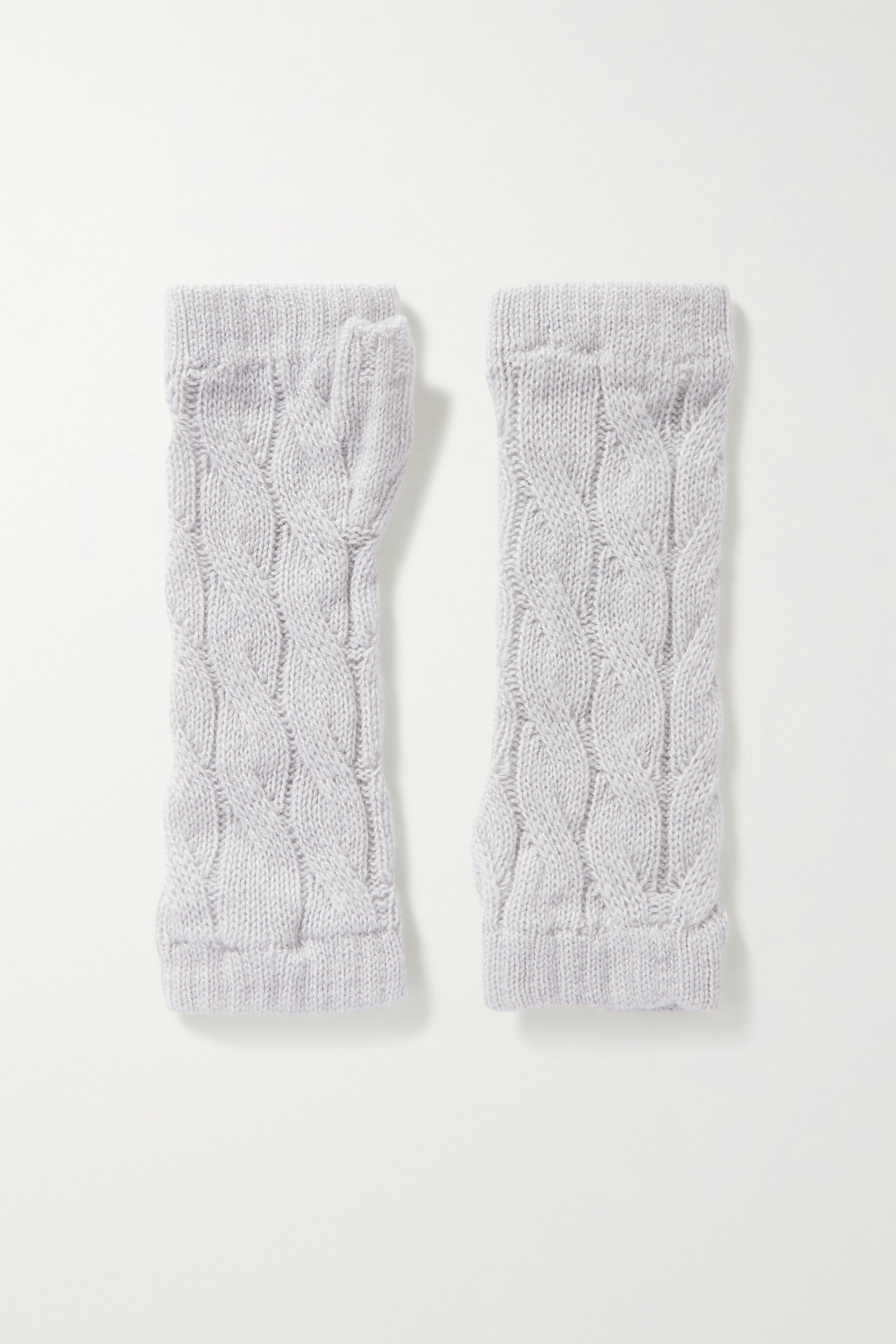 JOHNSTONS OF ELGIN + NET SUSTAIN cable-knit cashmere wrist warmers