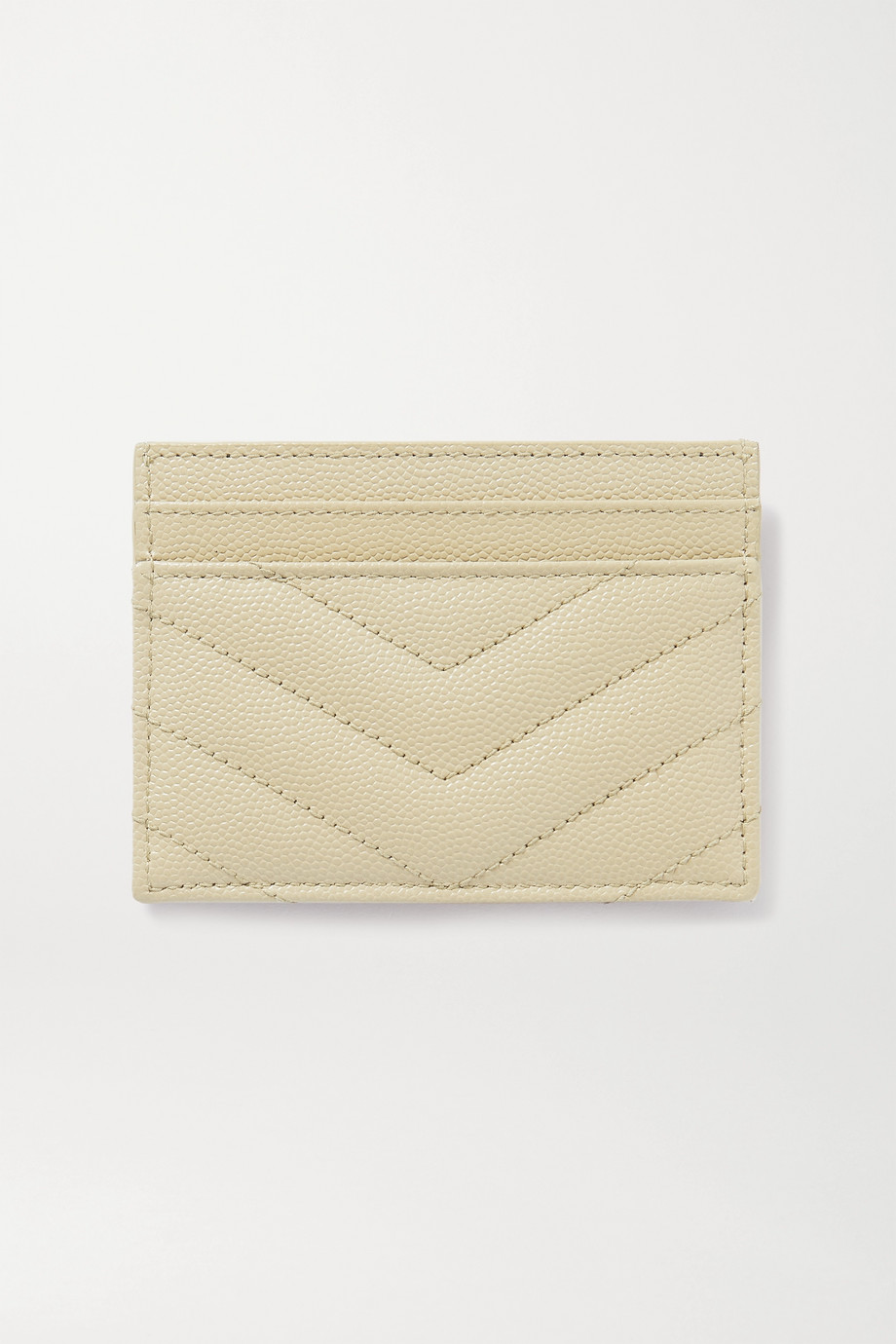 SAINT LAURENT Monogramme quilted textured-leather cardholder