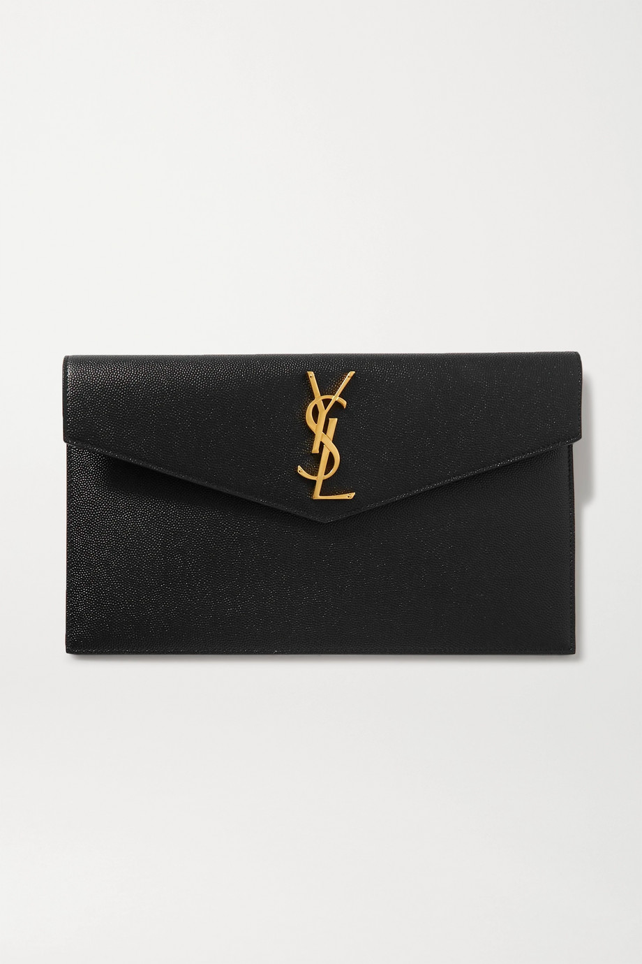 SAINT LAURENT Uptown textured-leather pouch