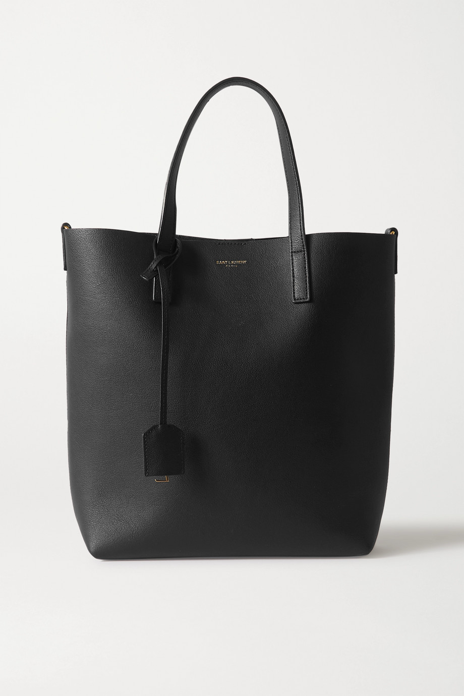 SAINT LAURENT Mini leather tote