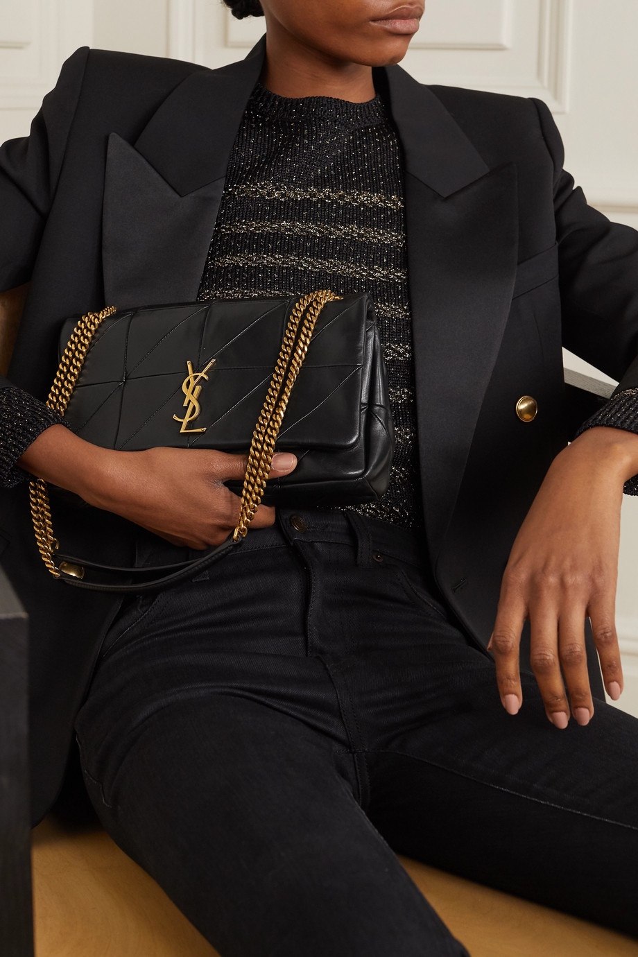 SAINT LAURENT Jamie quilted leather shoulder bag