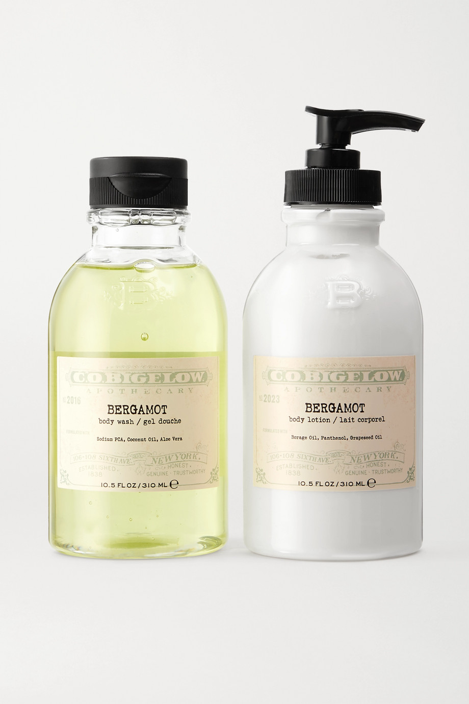 C.O. BIGELOW Iconic Collection Body Wash and Lotion Set - Bergamot