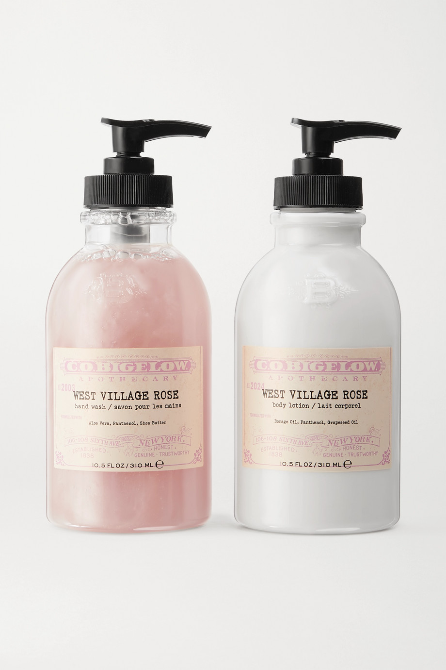 C.O. BIGELOW Iconic Collection Hand Wash and Body Lotion Set - West Village Rose