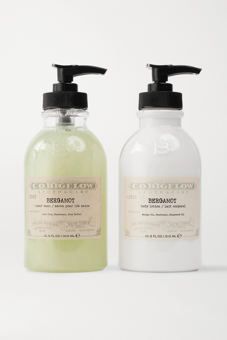 C.O. BIGELOW Iconic Collection Hand Wash and Body Lotion Set - Bergamot
